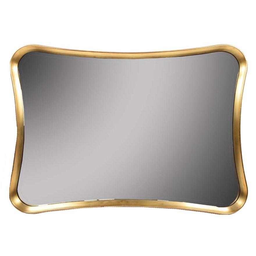 Contemporary Gold Framed Mirror : EBTH