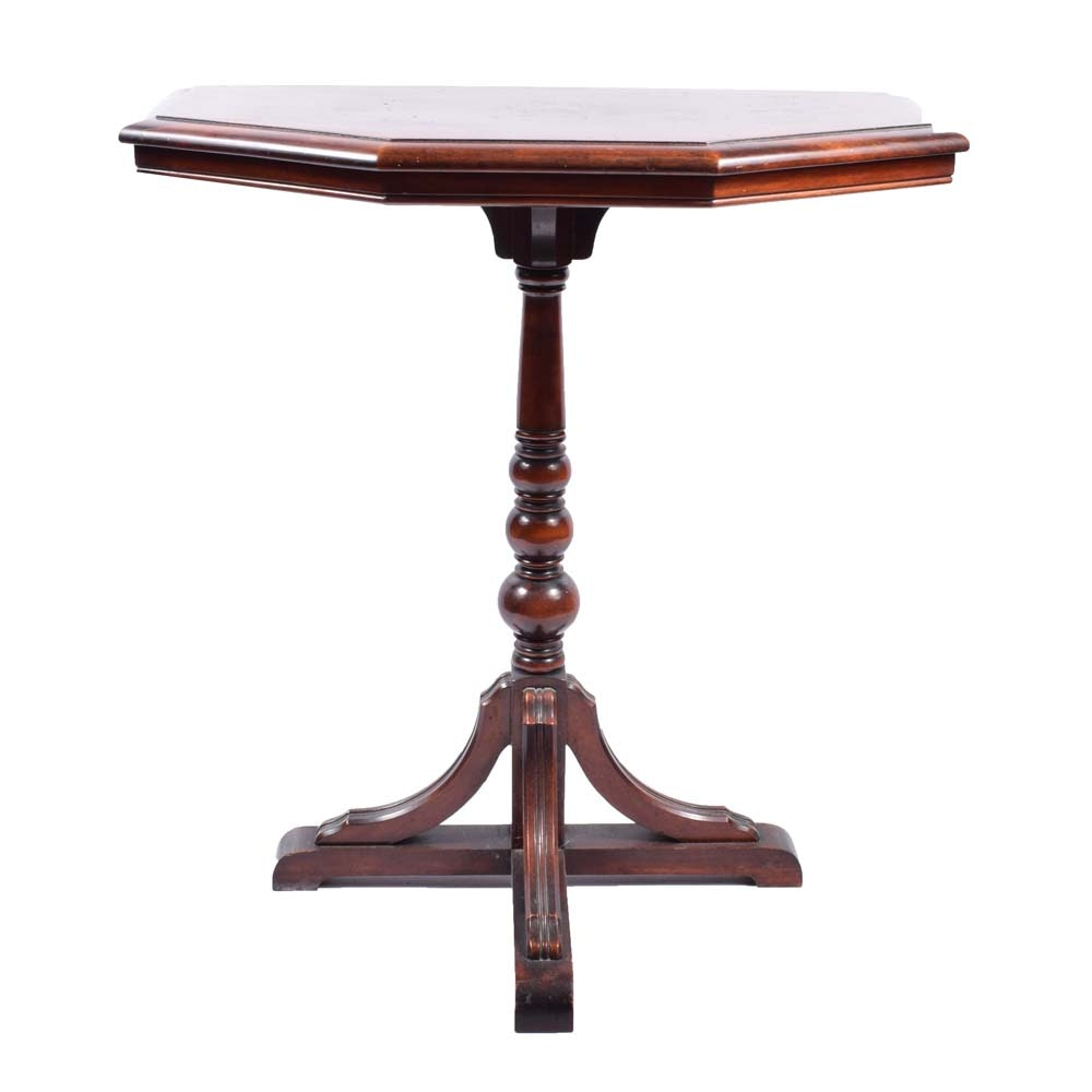 Antique Demilune Accent Table by The Knoxville Table & Chair Co.