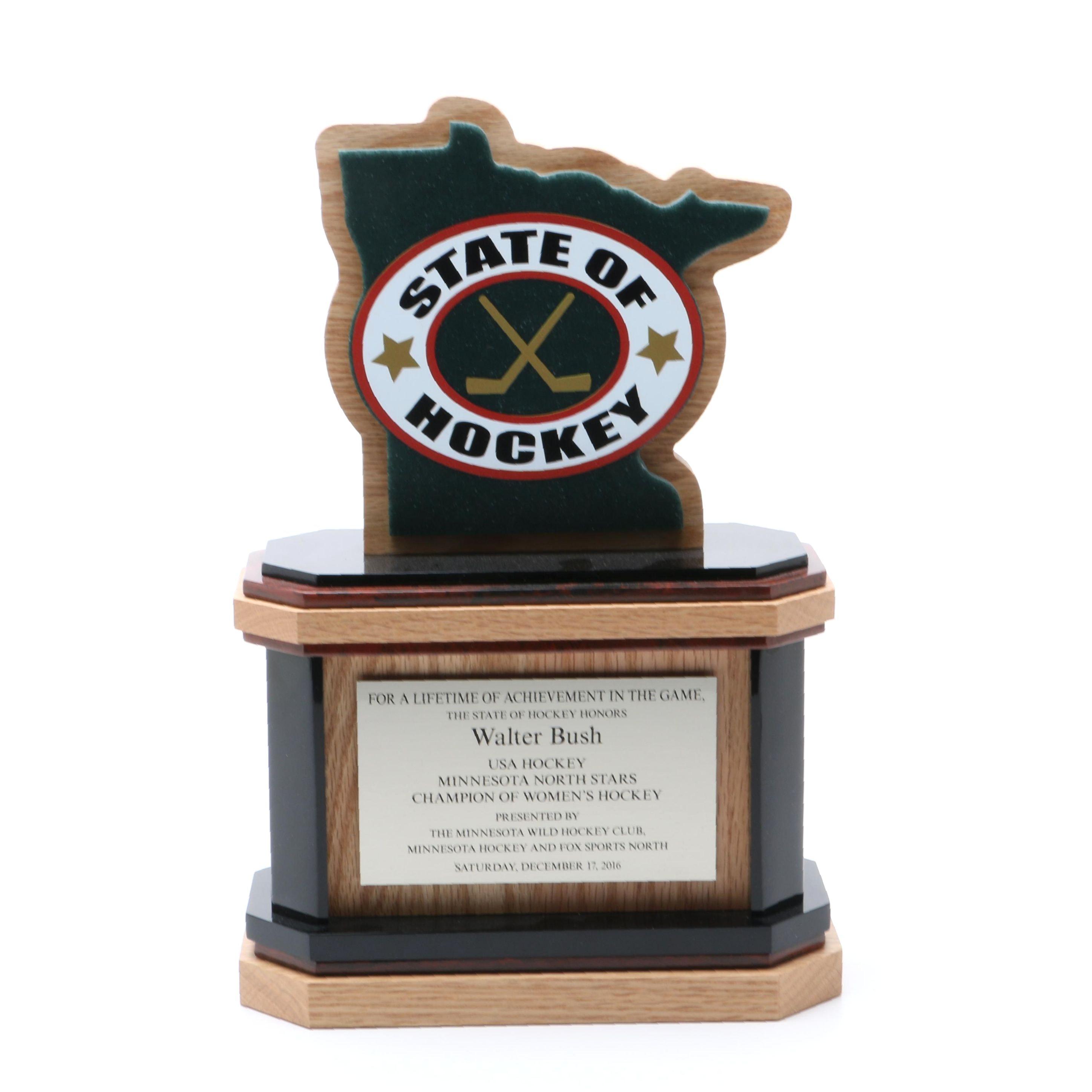 State of Hockey Walter Bush Lifetime of Achievement Award Trophy