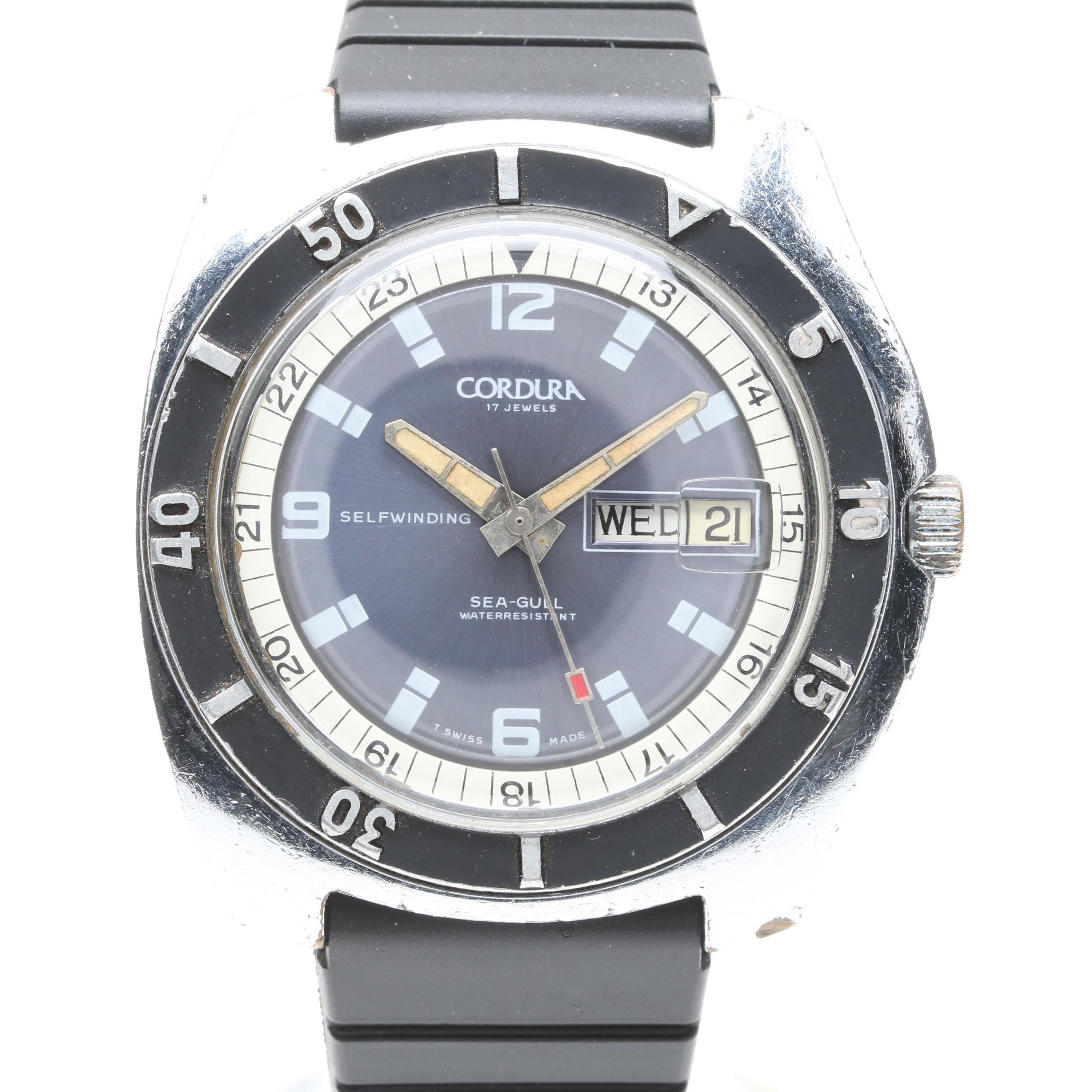 Vintage Cordura Sea-Gull Diver Wristwatch