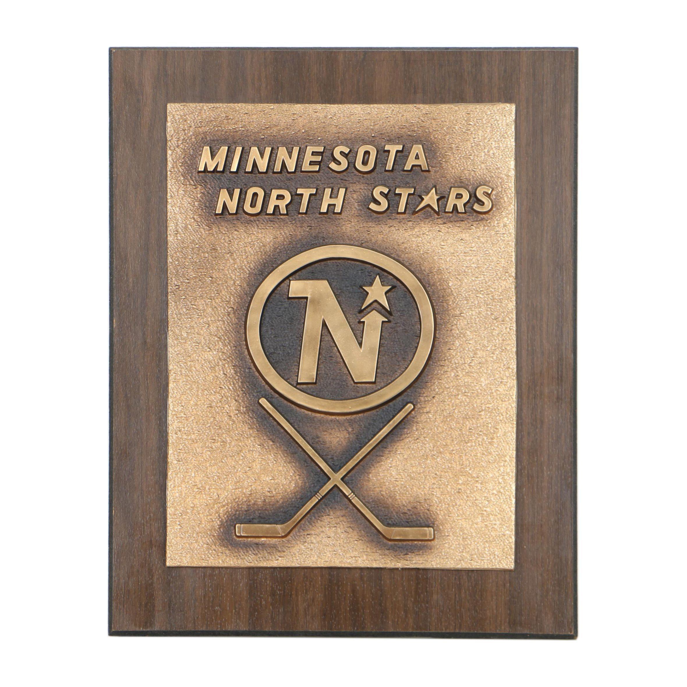 Minnesota North Stars National Hockey League Wall Plaque