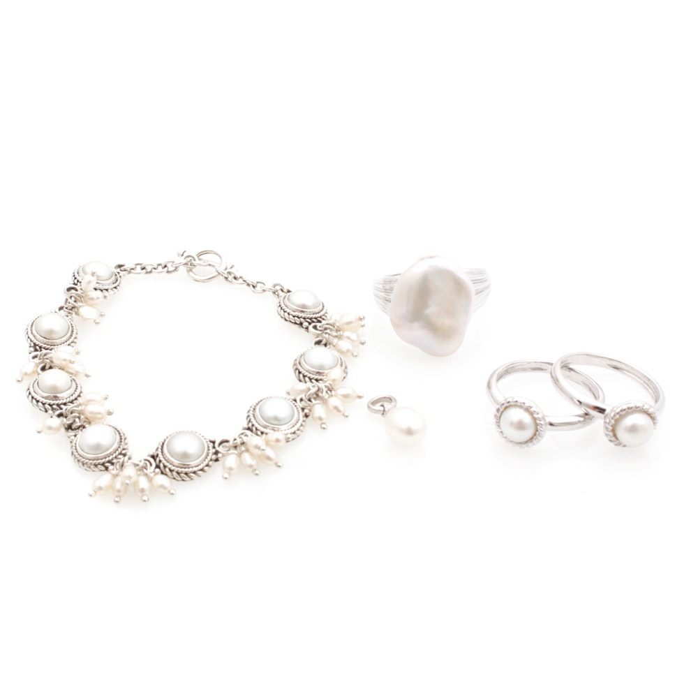 Sterling Silver Cultured Pearl Jewelry Featuring Honora