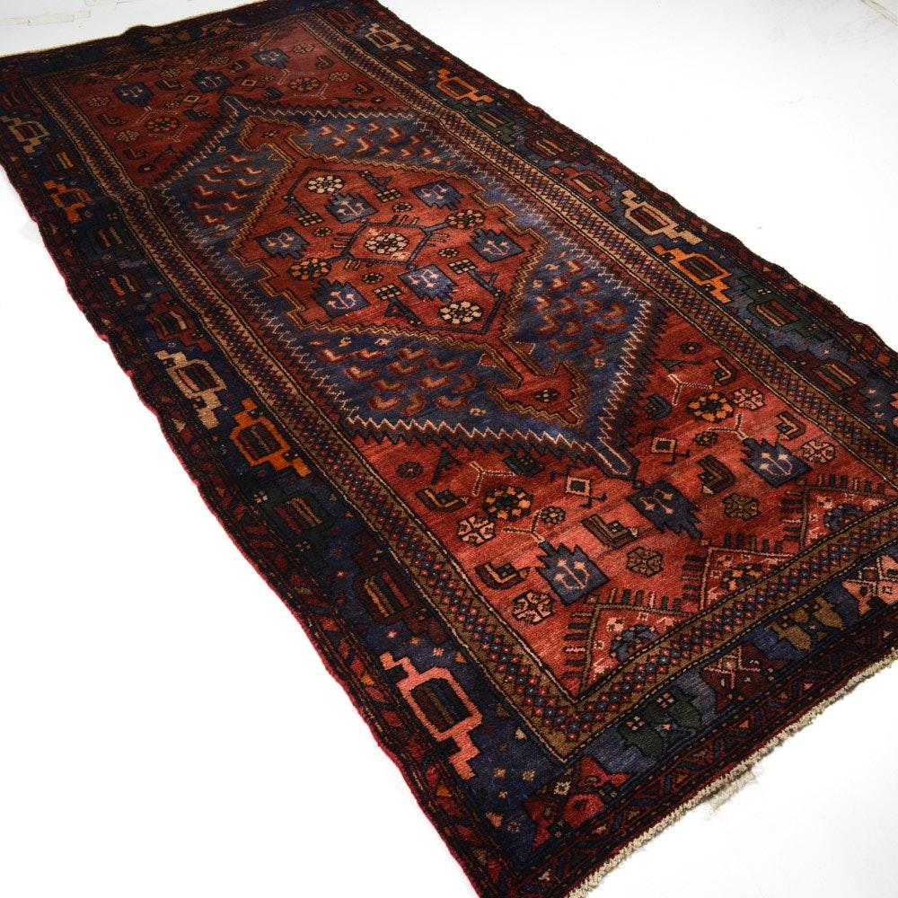4' x 7' Semi-Antique Hand-Knotted Persian Kurdish Bijar Rug