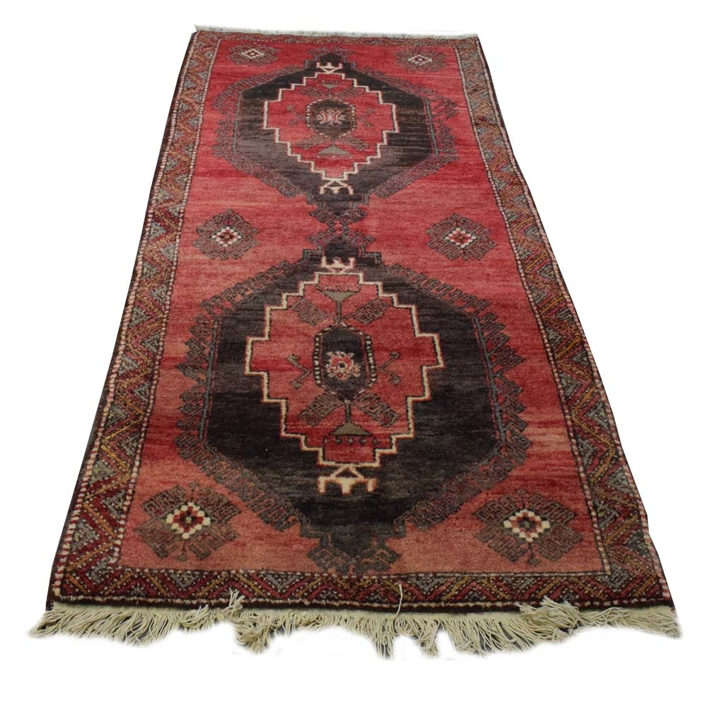 Hand-Knotted Persian Ardabil Area Rug