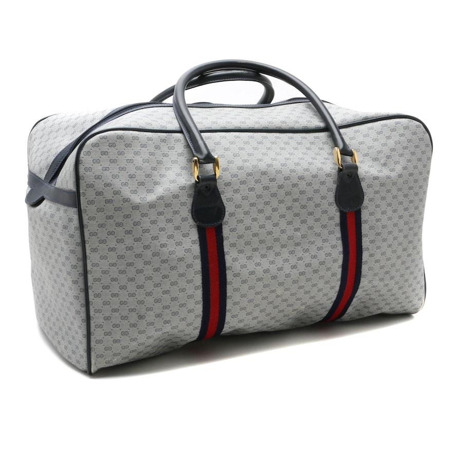 1980s Vintage Gucci Signature Duffle Bag