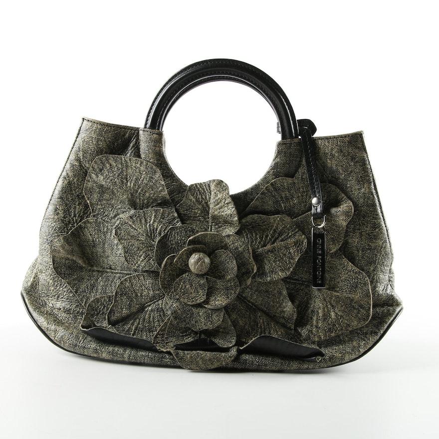 Anne Fontaine Scarlet Handbag In Olive And Black