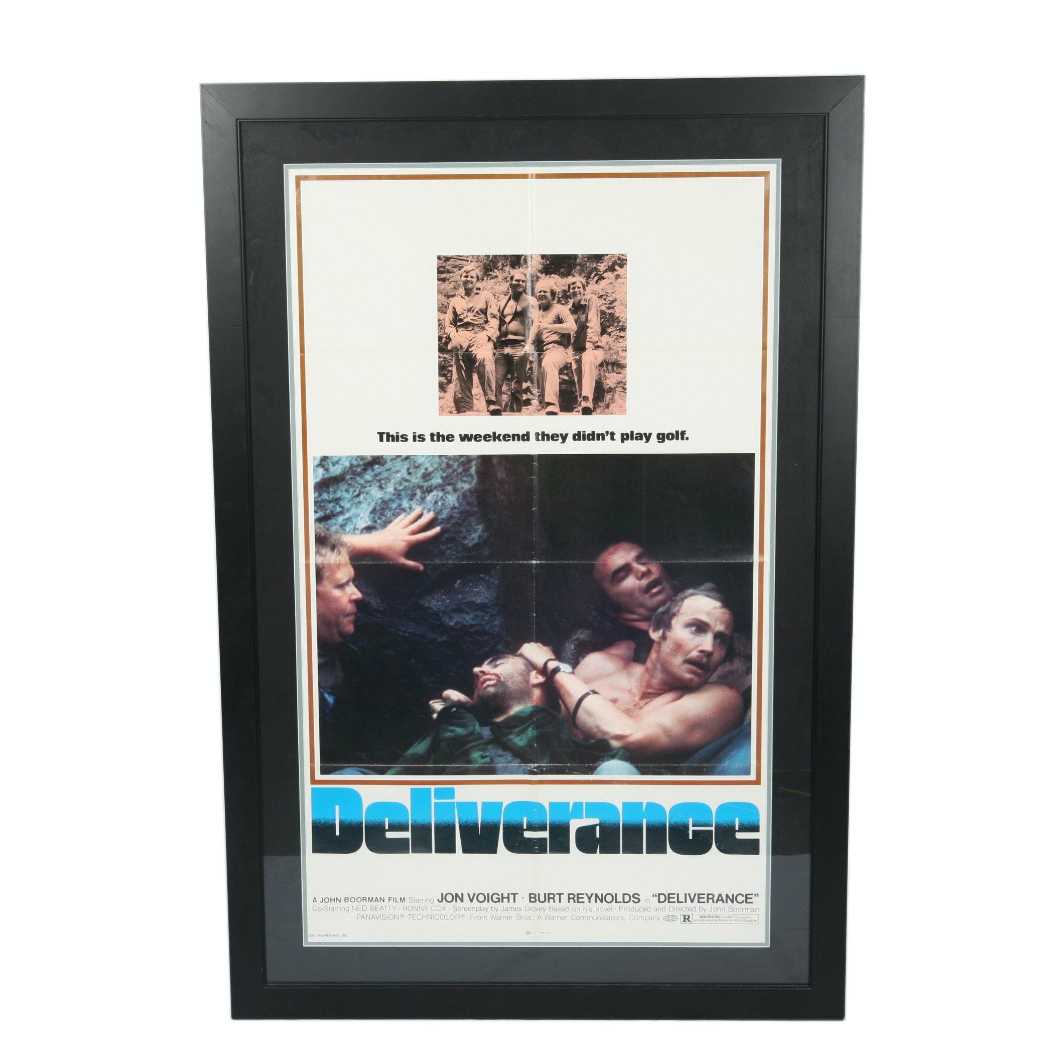 """Framed """"Deliverance"""" Poster with Burt Reynolds"""