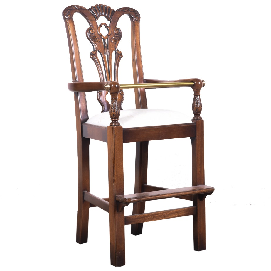 Chippendale Style Decorative Highchair