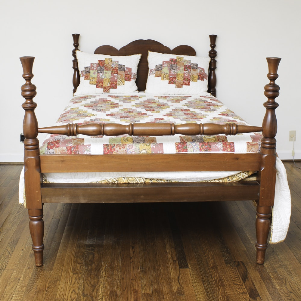 Vintage Federal Style Cherry Bedframe