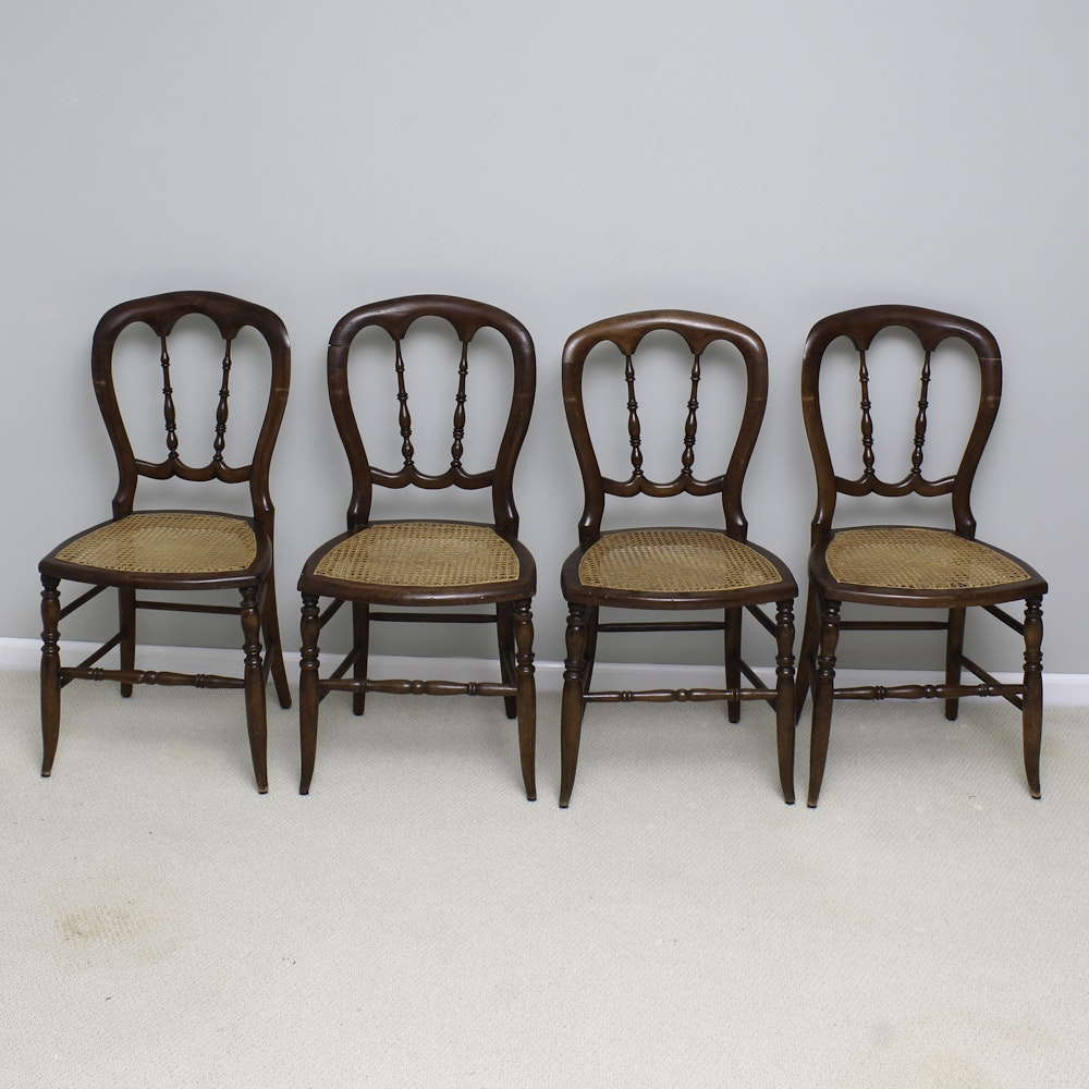 Vintage Victorian Style Balloon Back Side Chairs