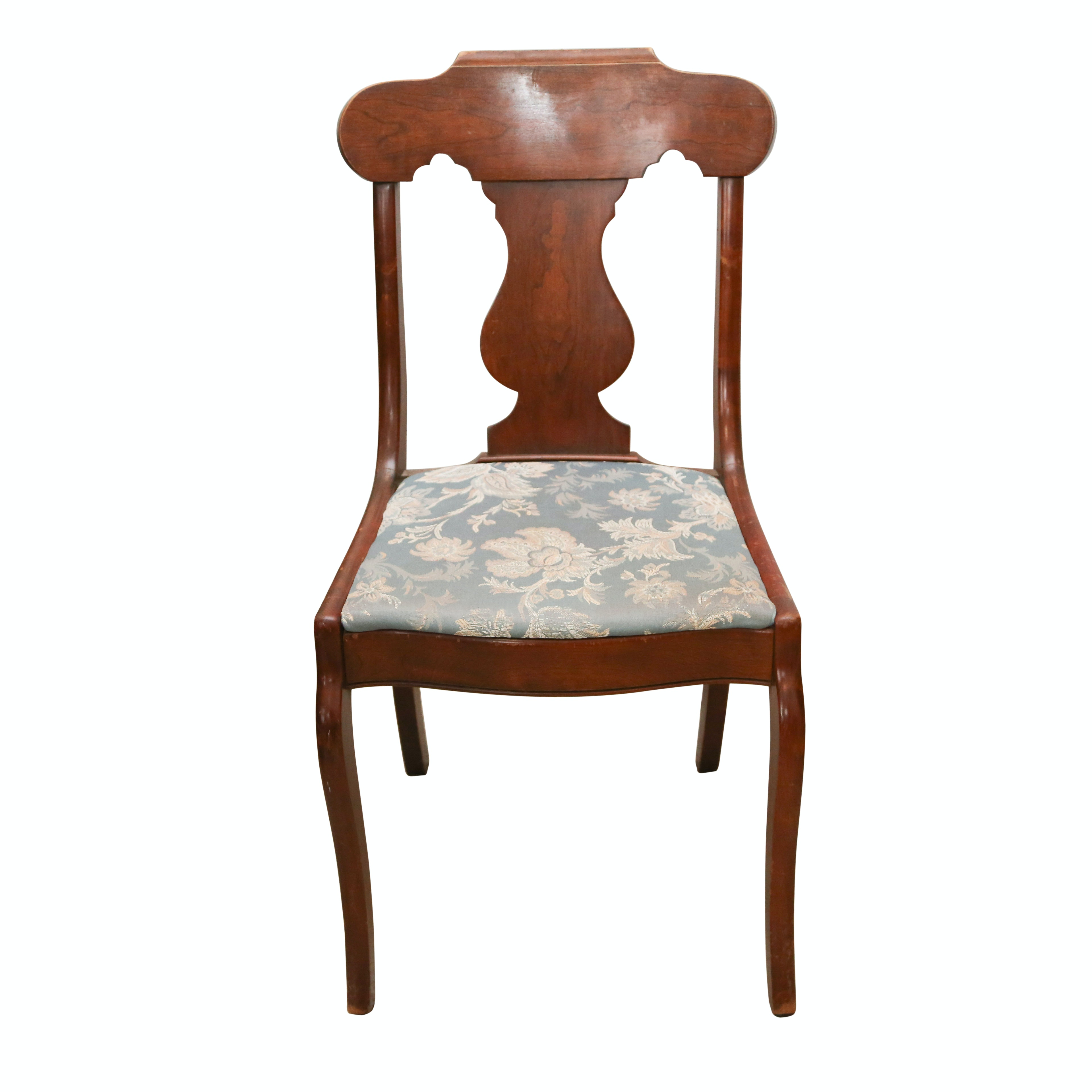 Vintage Duncan Phyfe Style Mahogany Side Chair