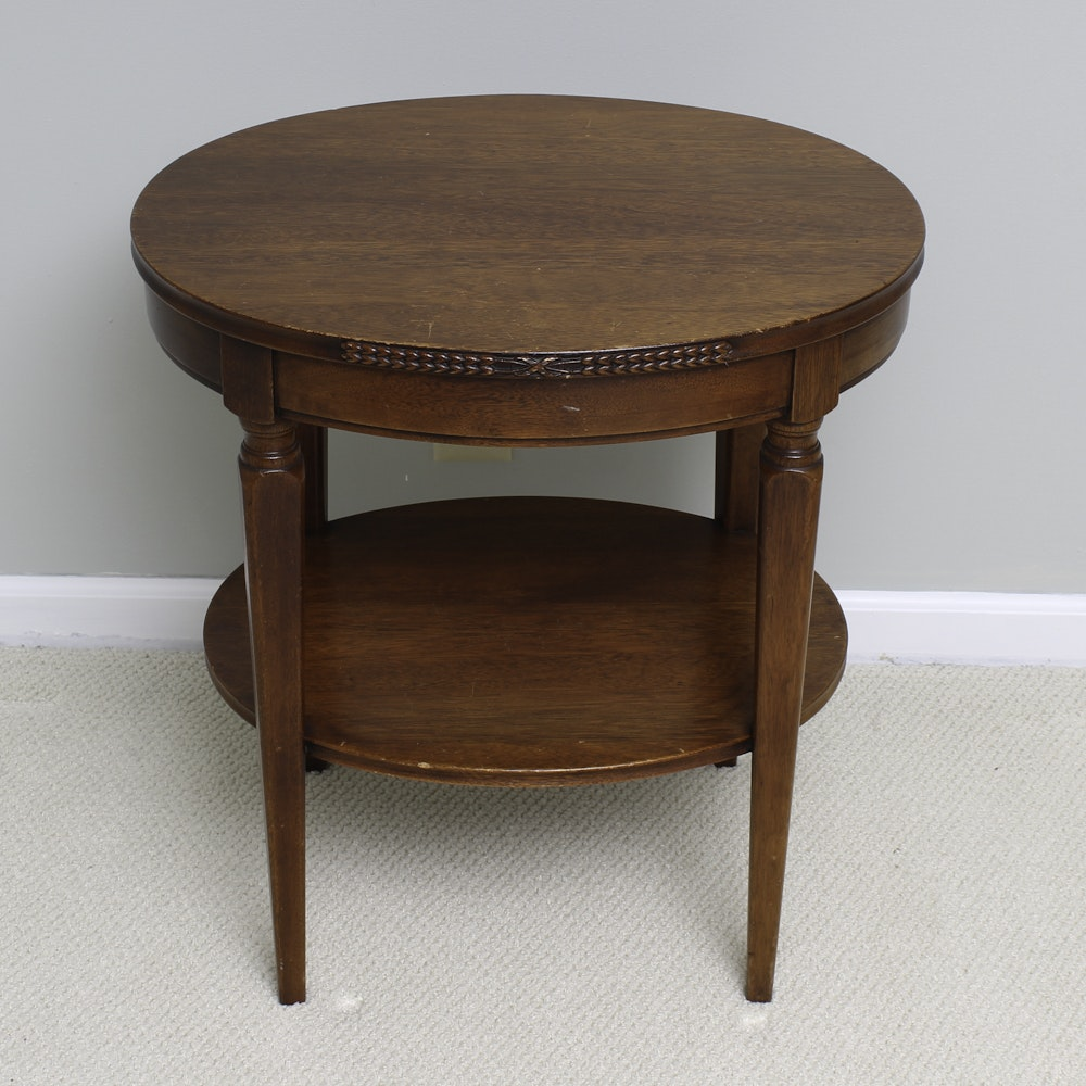 Vintage Walnut Stained End Table