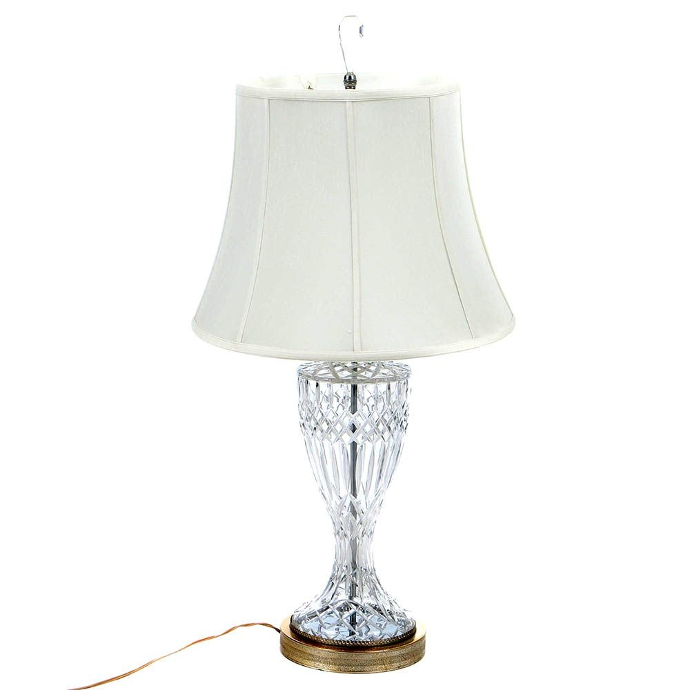 Waterford Style Cut-Glass Table Lamp