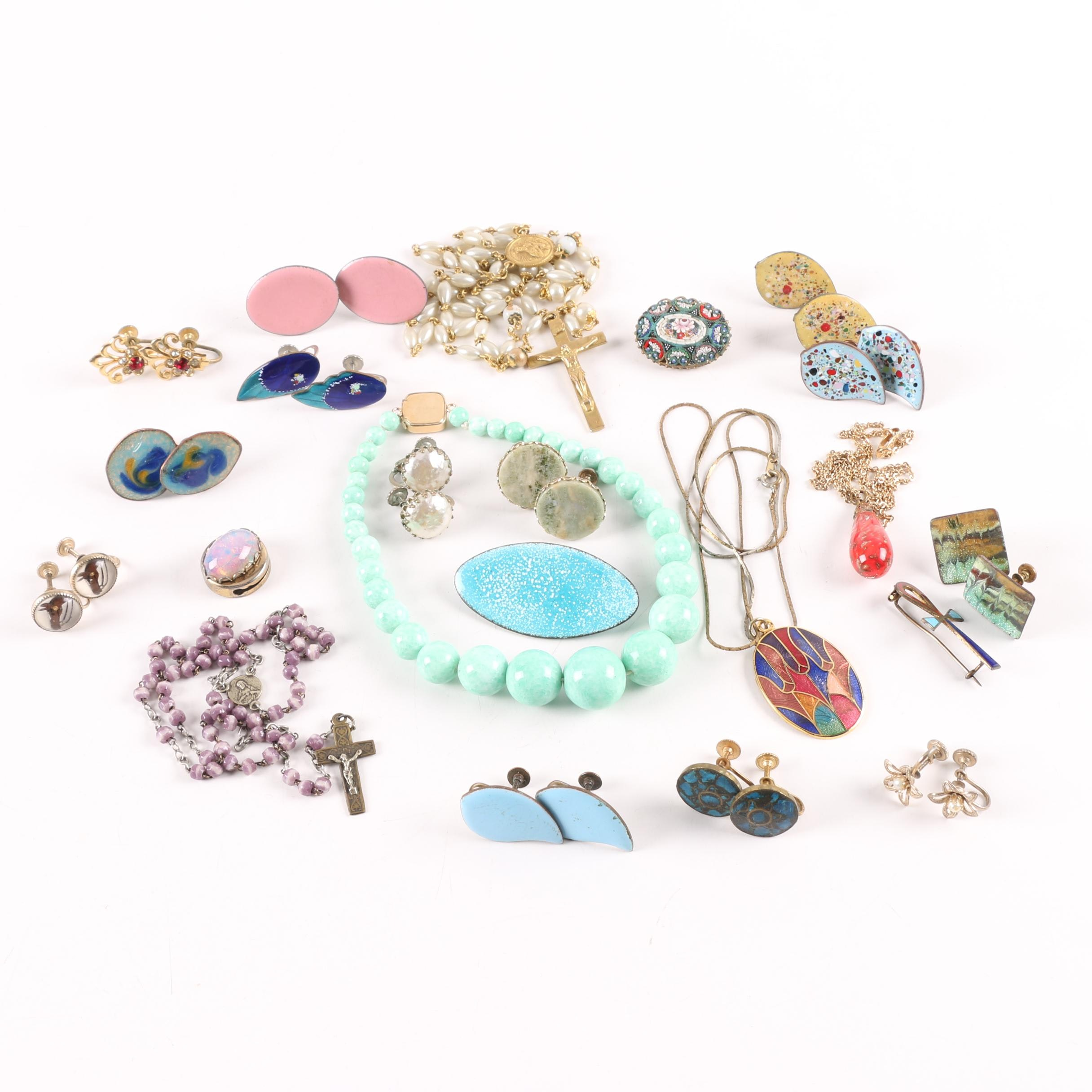 Jewelry Assortment Including Rosary