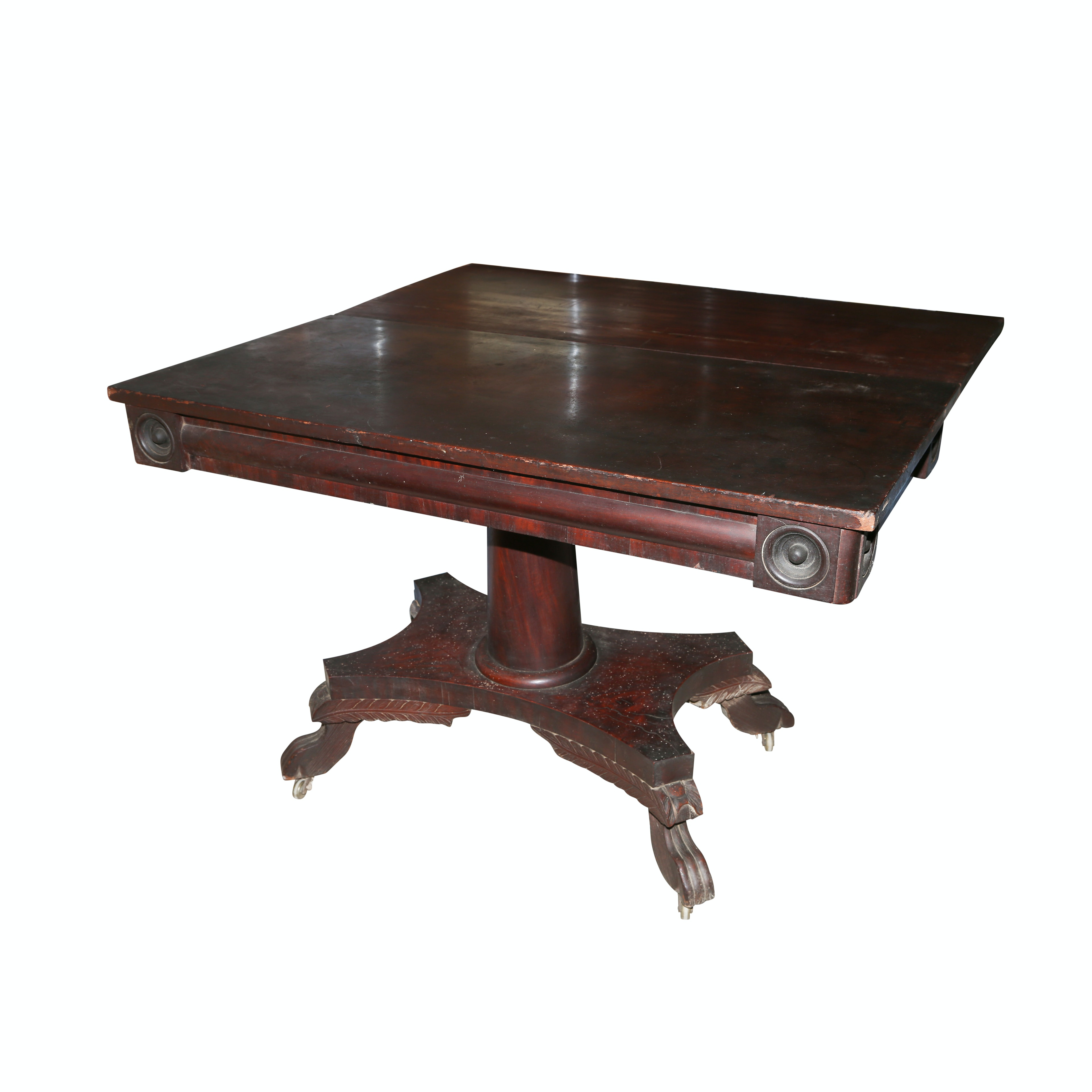 Antique American Classical Mahogany Library Table