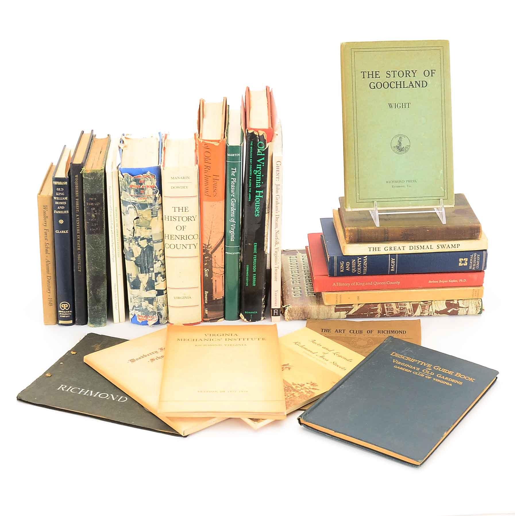 Group of Virginia Books