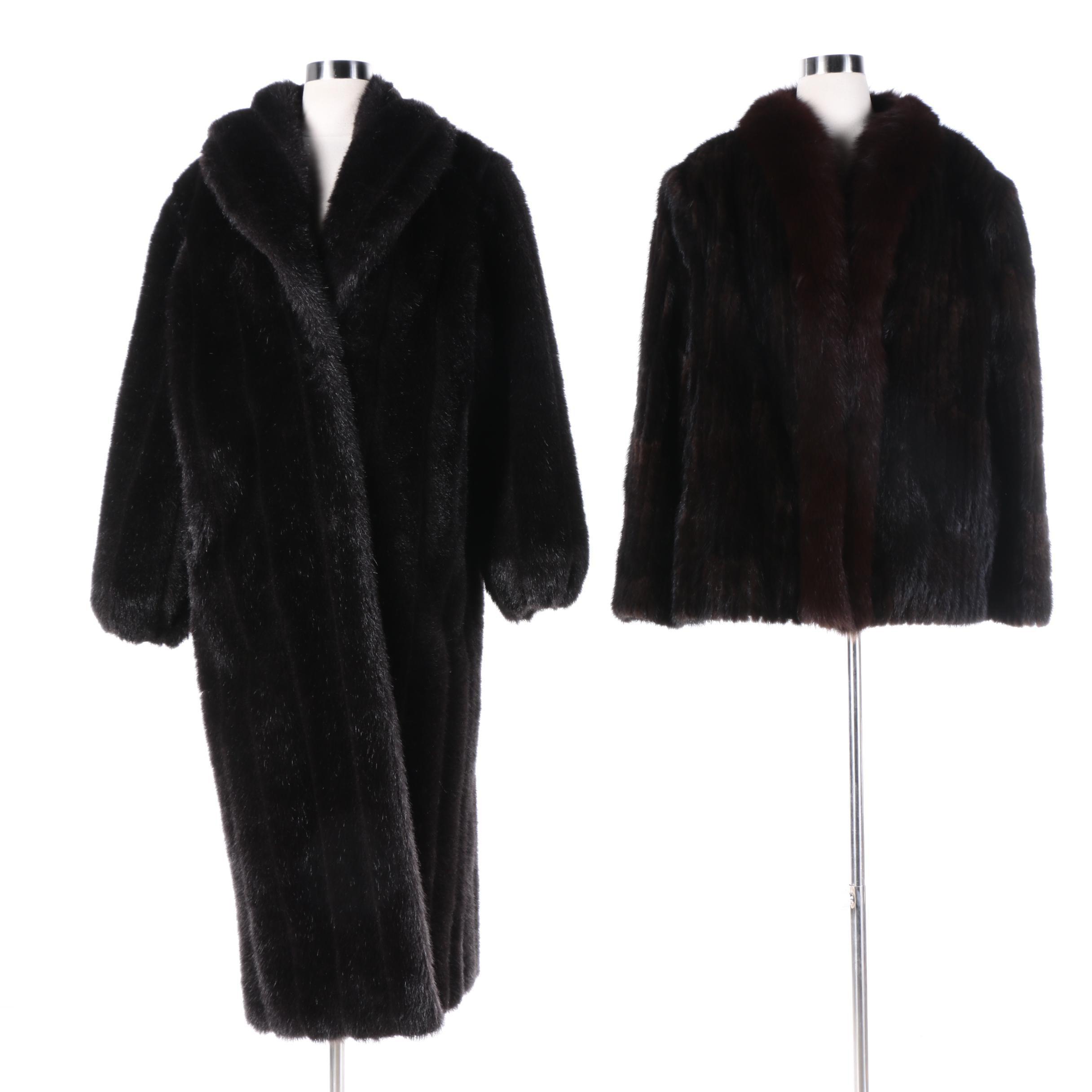 Saga Mink Fur Jacket and Monterey Fashions Faux Fur Coat