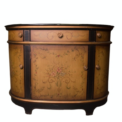 French Style Server with Granite Top - Online Furniture Auctions Vintage Furniture Auction Antique