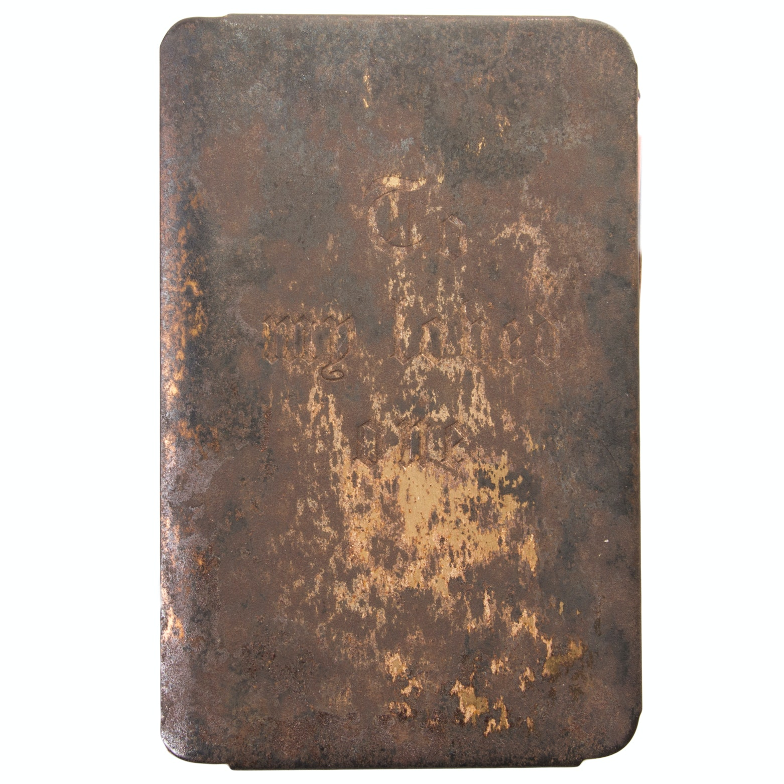 Vintage Soldier's Bible with Metal Cover