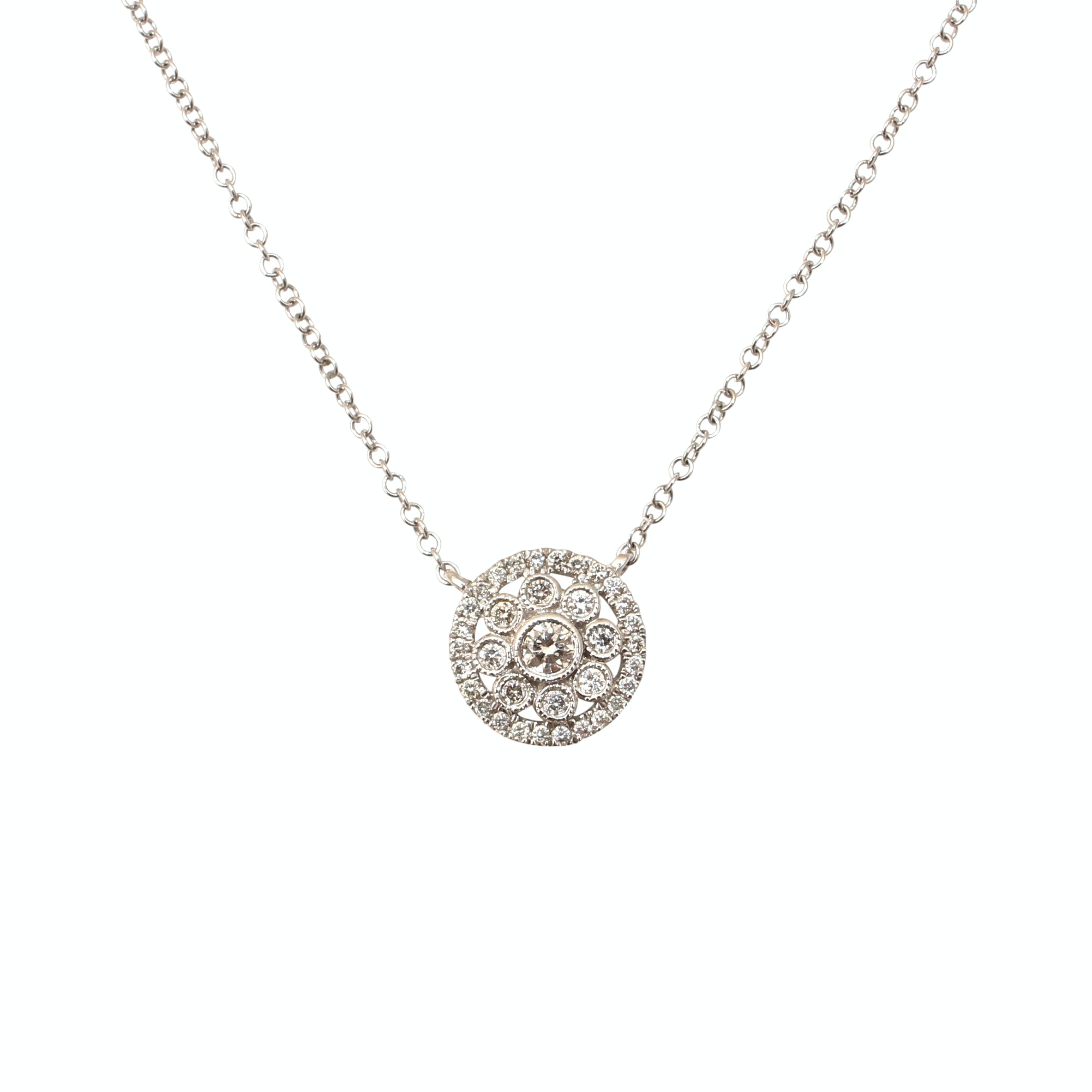 Gabriel & Co. 14K White Gold Diamond Necklace