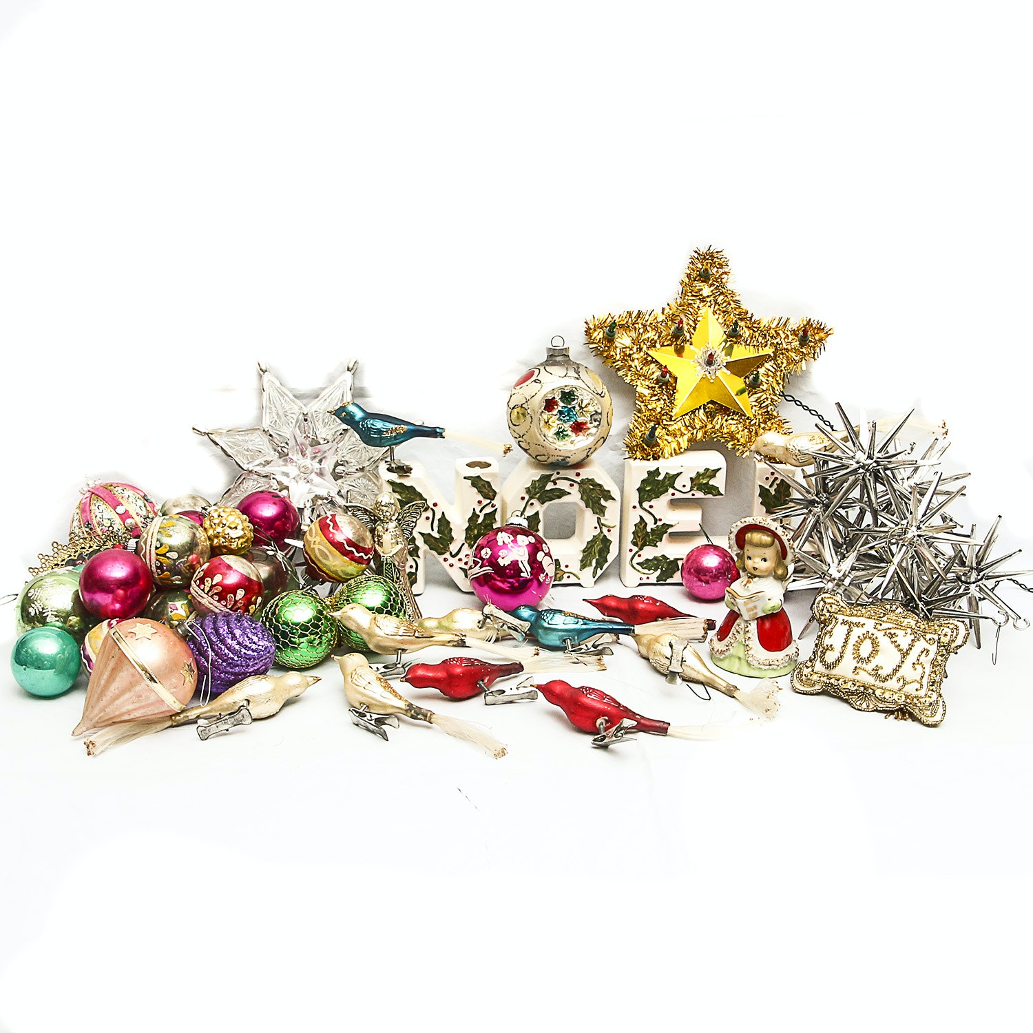 Collection of Vintage Christmas Décor and Ornaments