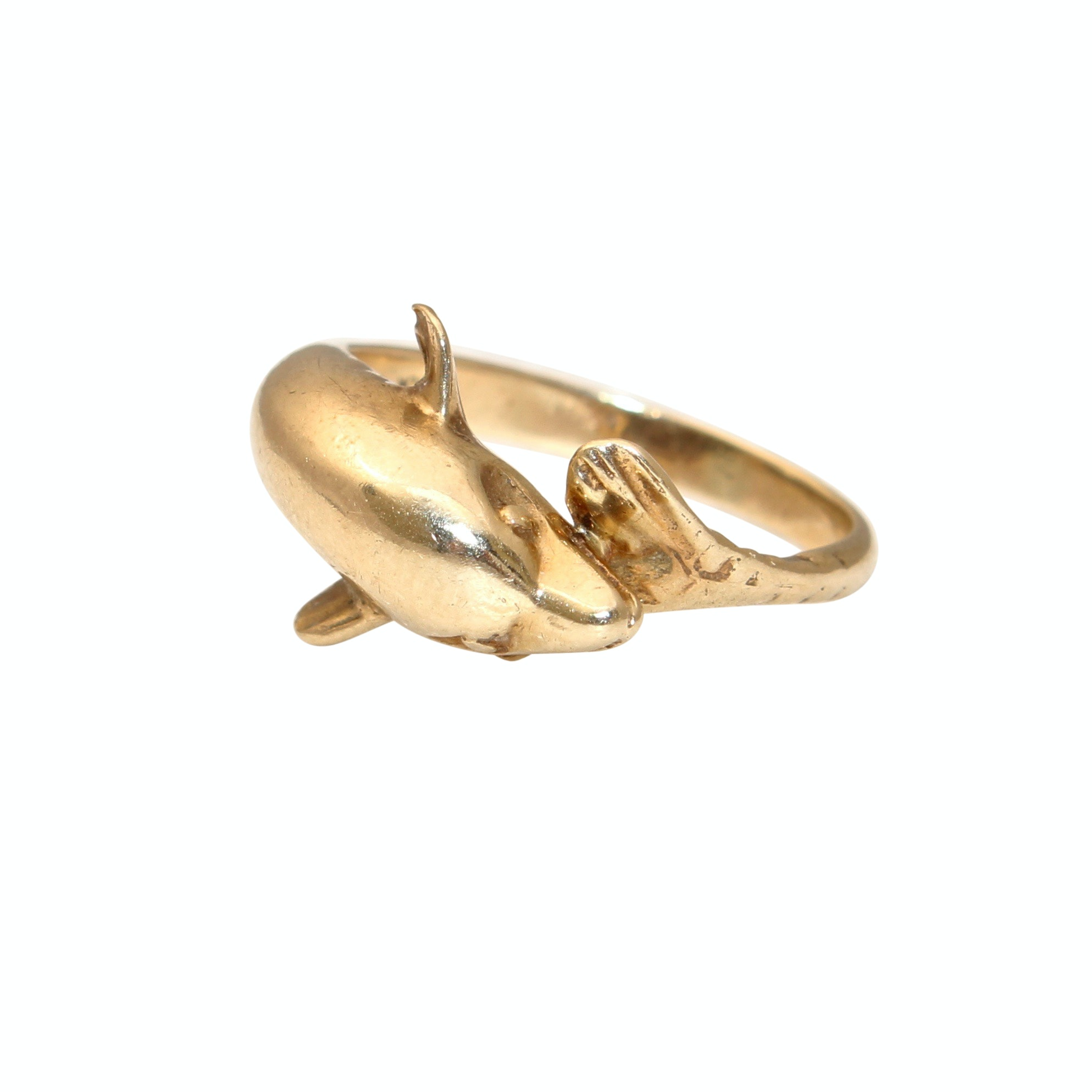 10K Yellow Gold Dolphin Ring