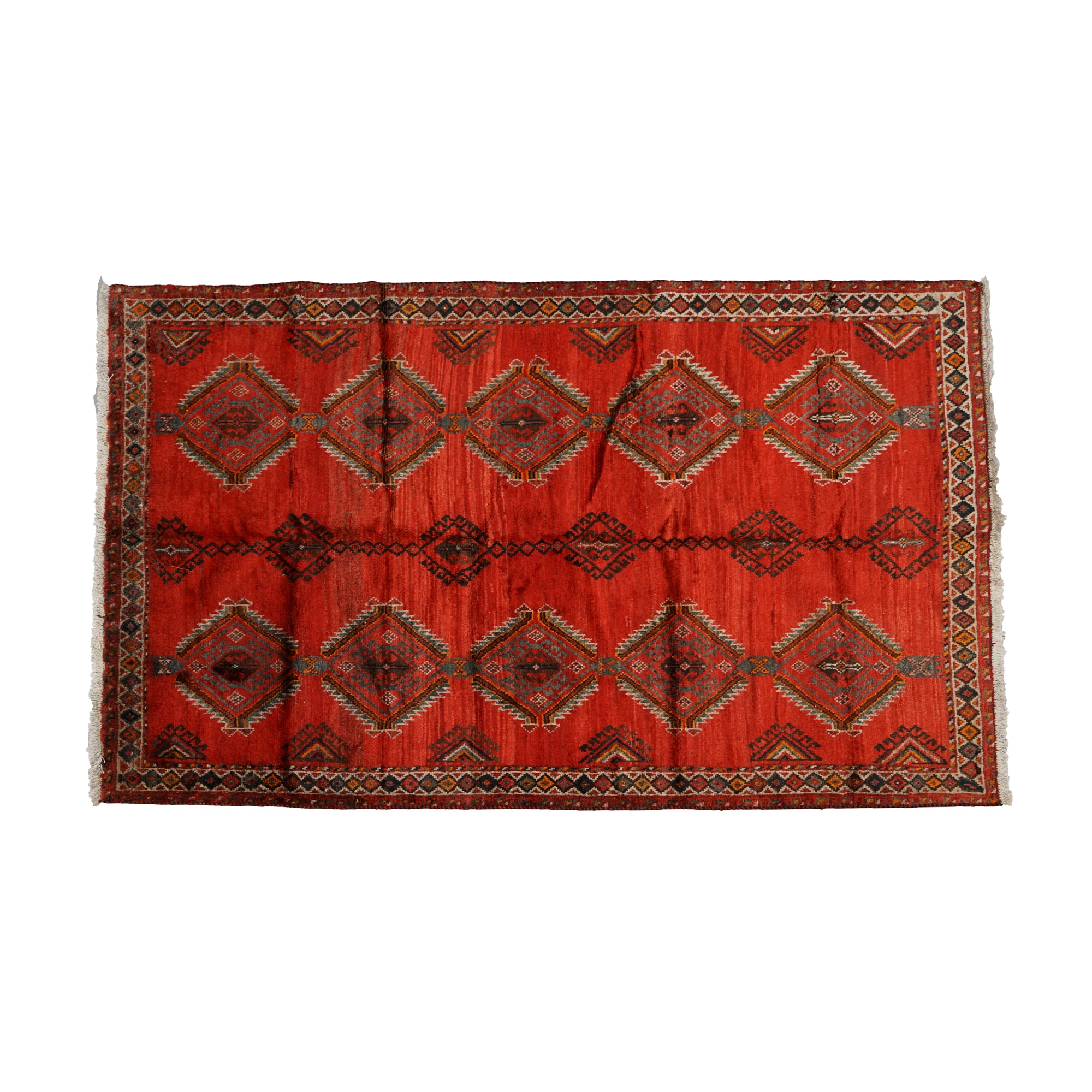 Hand-Knotted Persian Village Area Rug