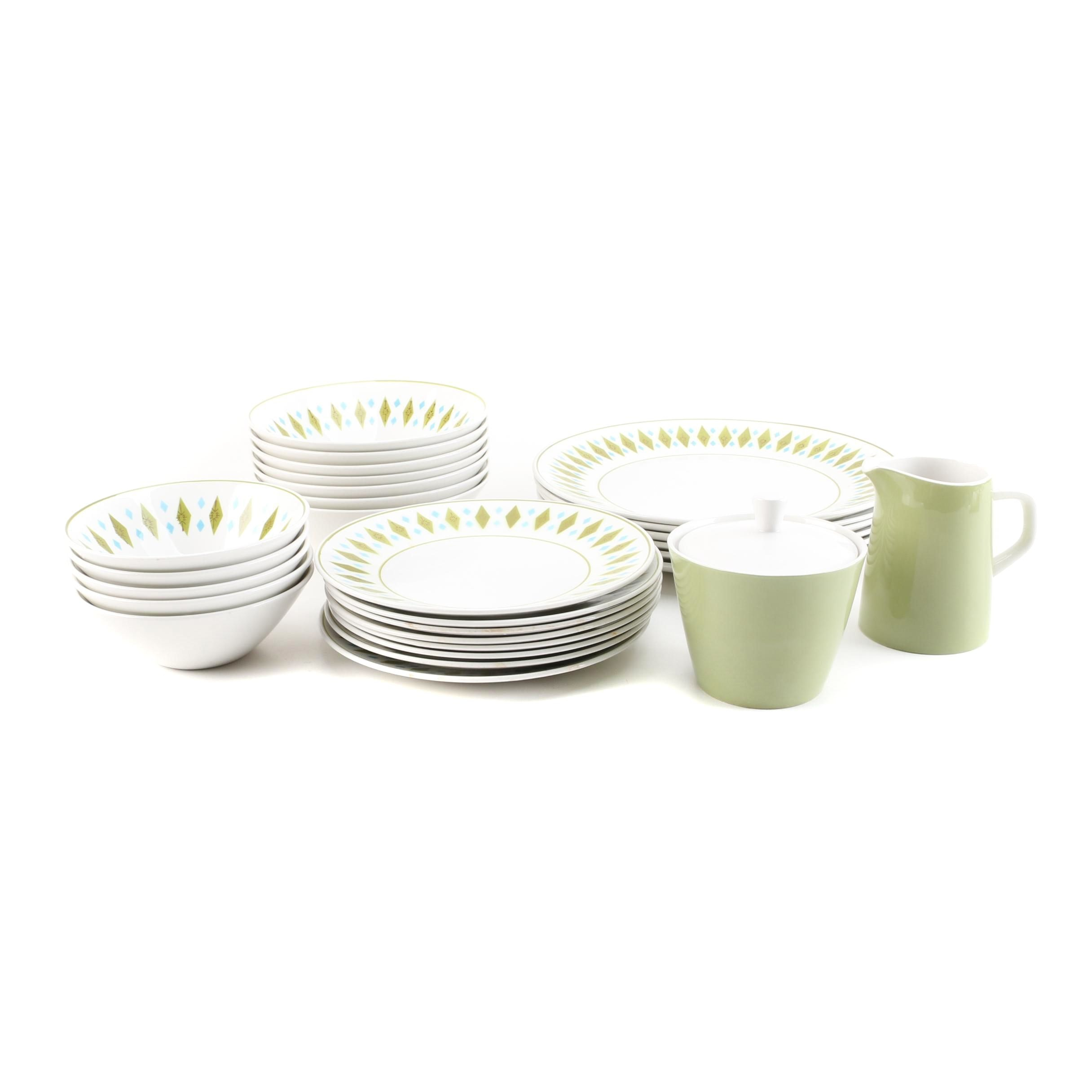 Mikasa Cerastone  Gem  and  Green  Dinnerware ...  sc 1 st  EBTH.com : tableware serving dishes - pezcame.com