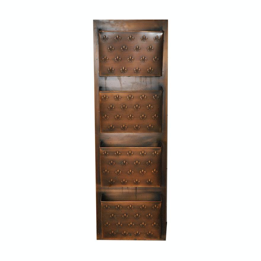 Copper tone fleur de lis wall mailbox by ballard designs
