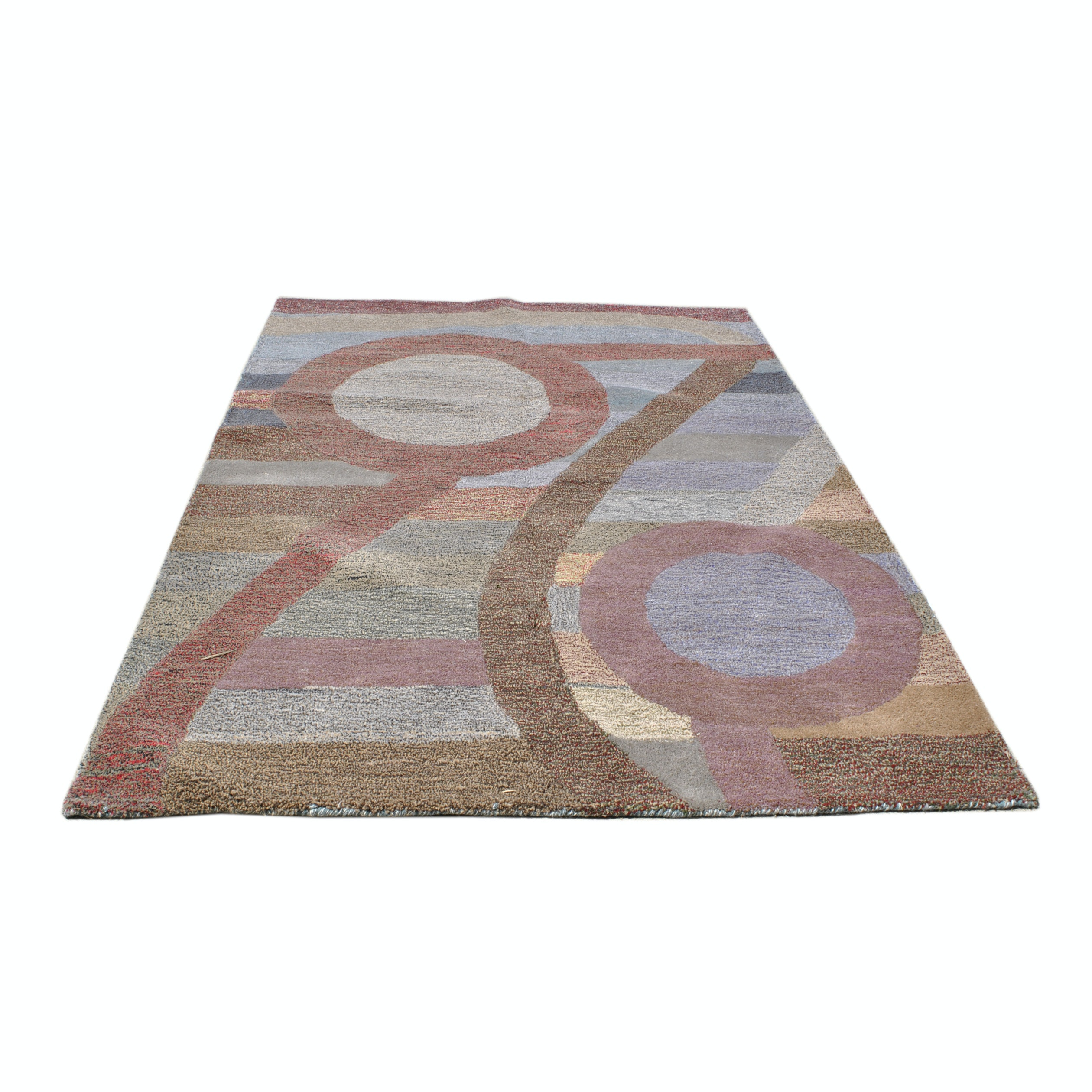 Hand-Tufted Chinese Abstract Area Rug
