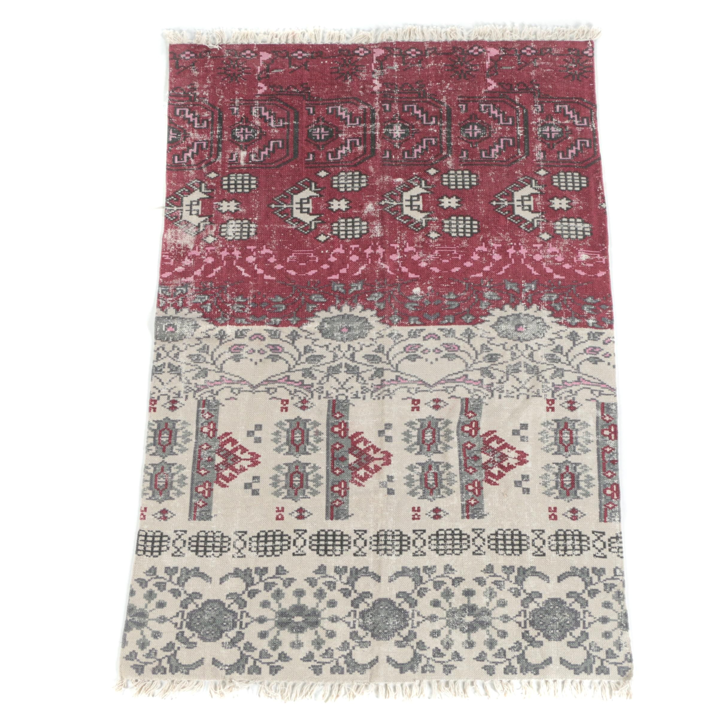 Handwoven Indian Cotton Area Rug