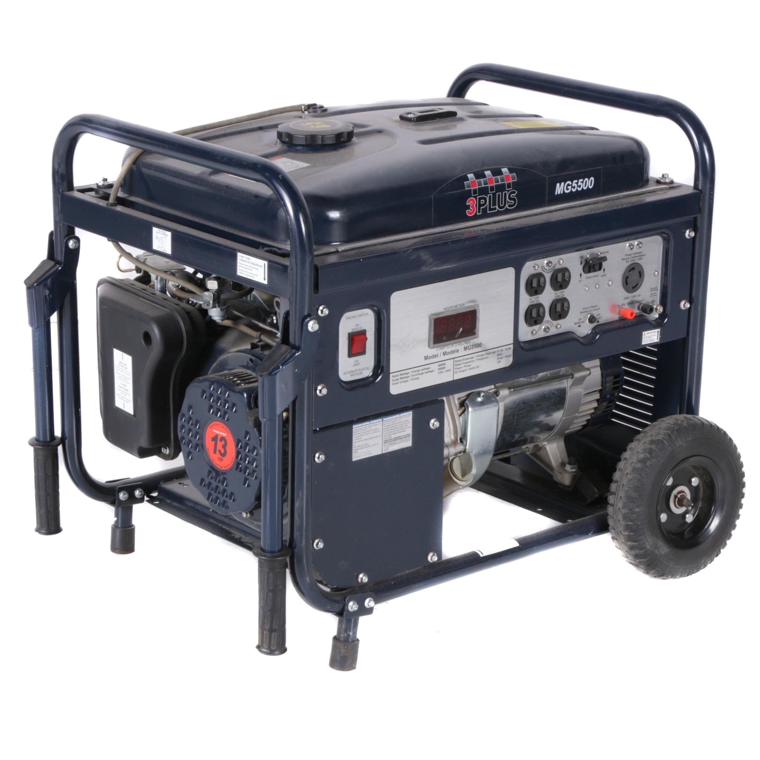 3+Pro Gas Powered 5500-Watt Electric Generator