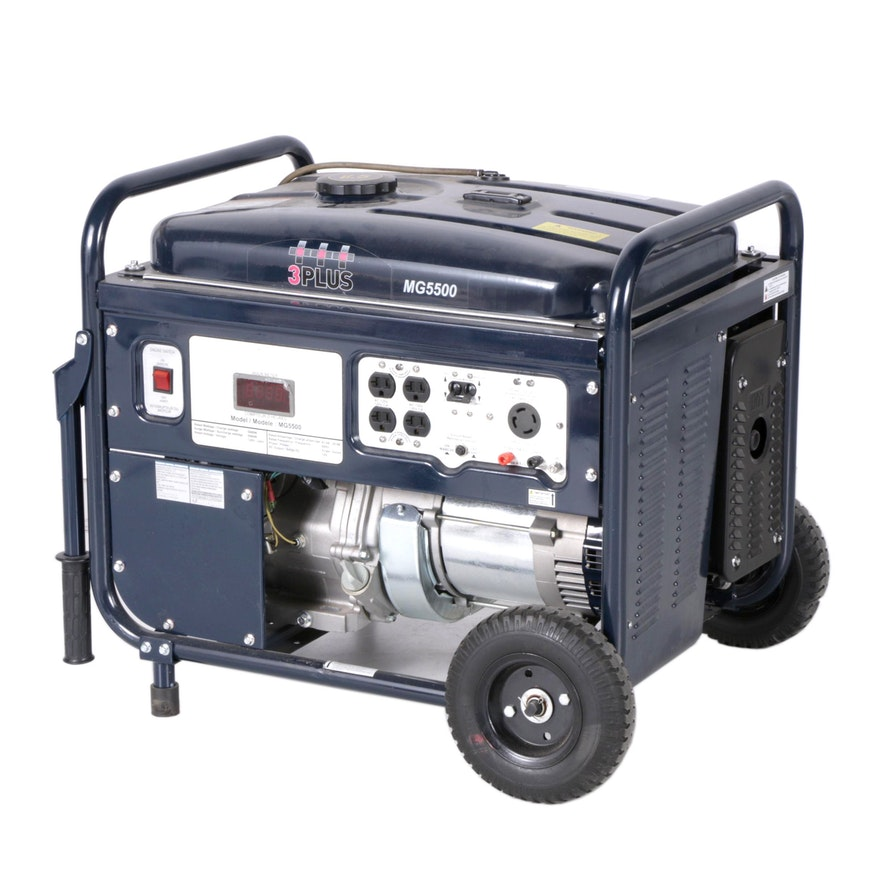 3 Pro Gas Powered 5500 Watt Electric Generator EBTH