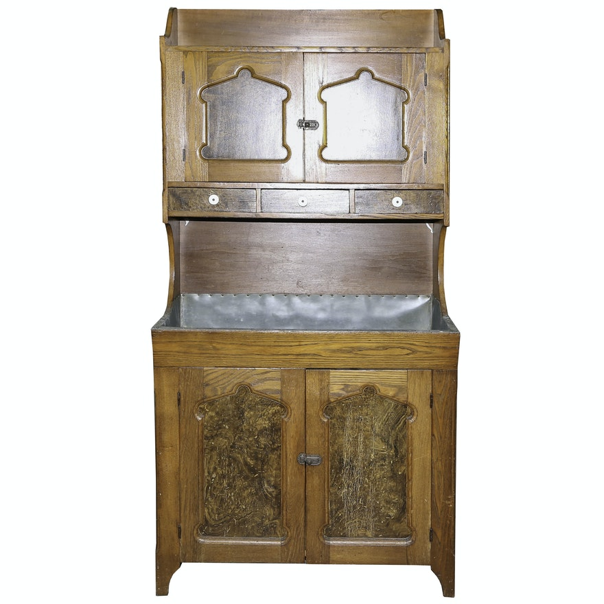 Antique Pennsylvania Dutch Cupboard with Dry Sink ... - Antique Pennsylvania Dutch Cupboard With Dry Sink : EBTH