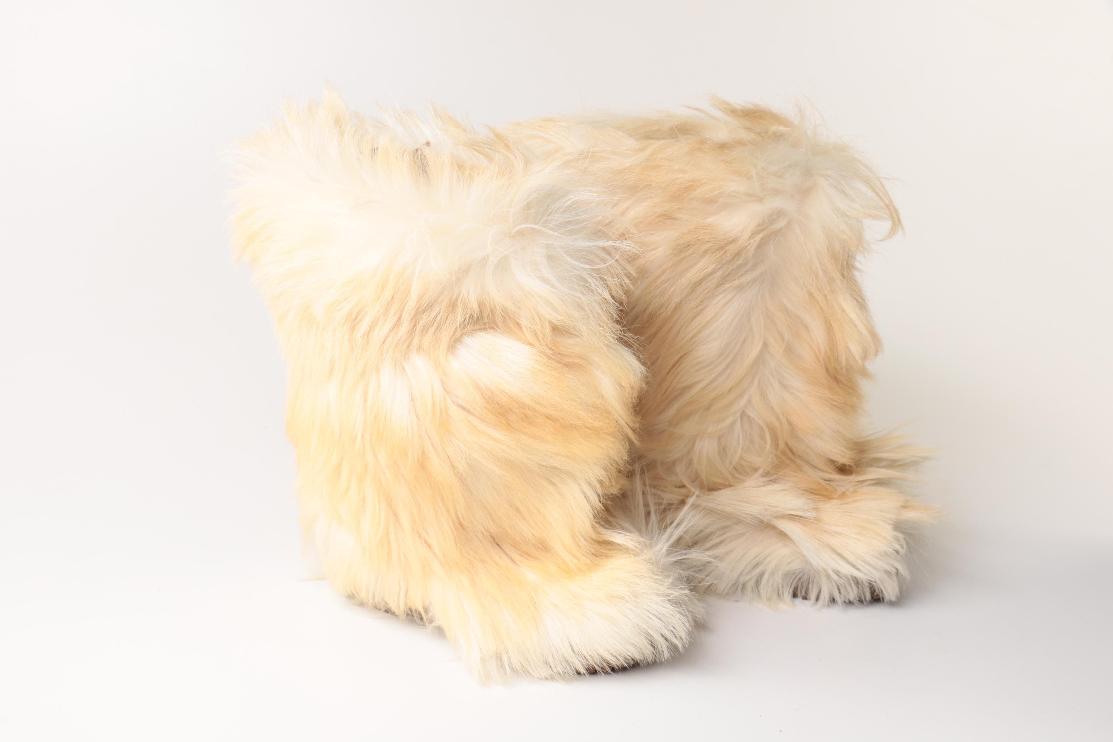 Vintage Women's Blondo Goat Hair Boots
