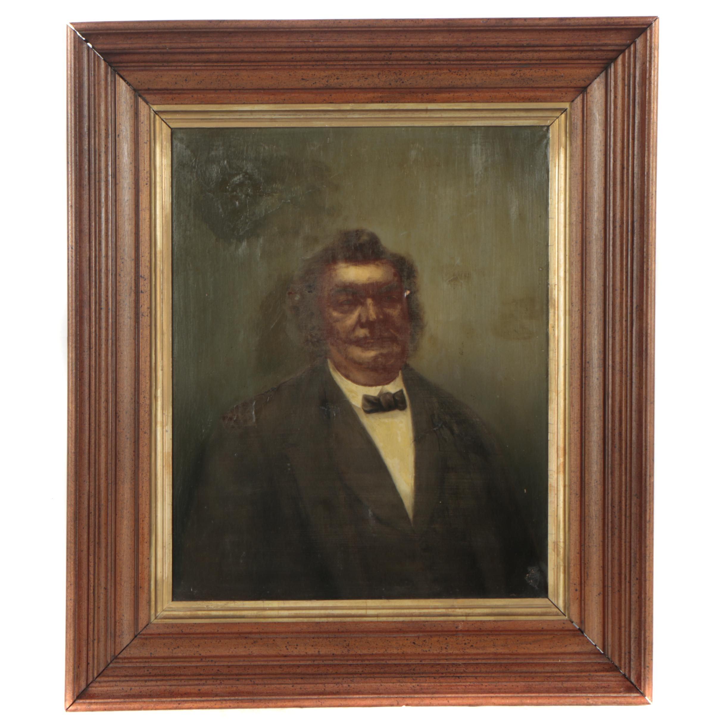 Antique Oil Painting Portrait of a Man