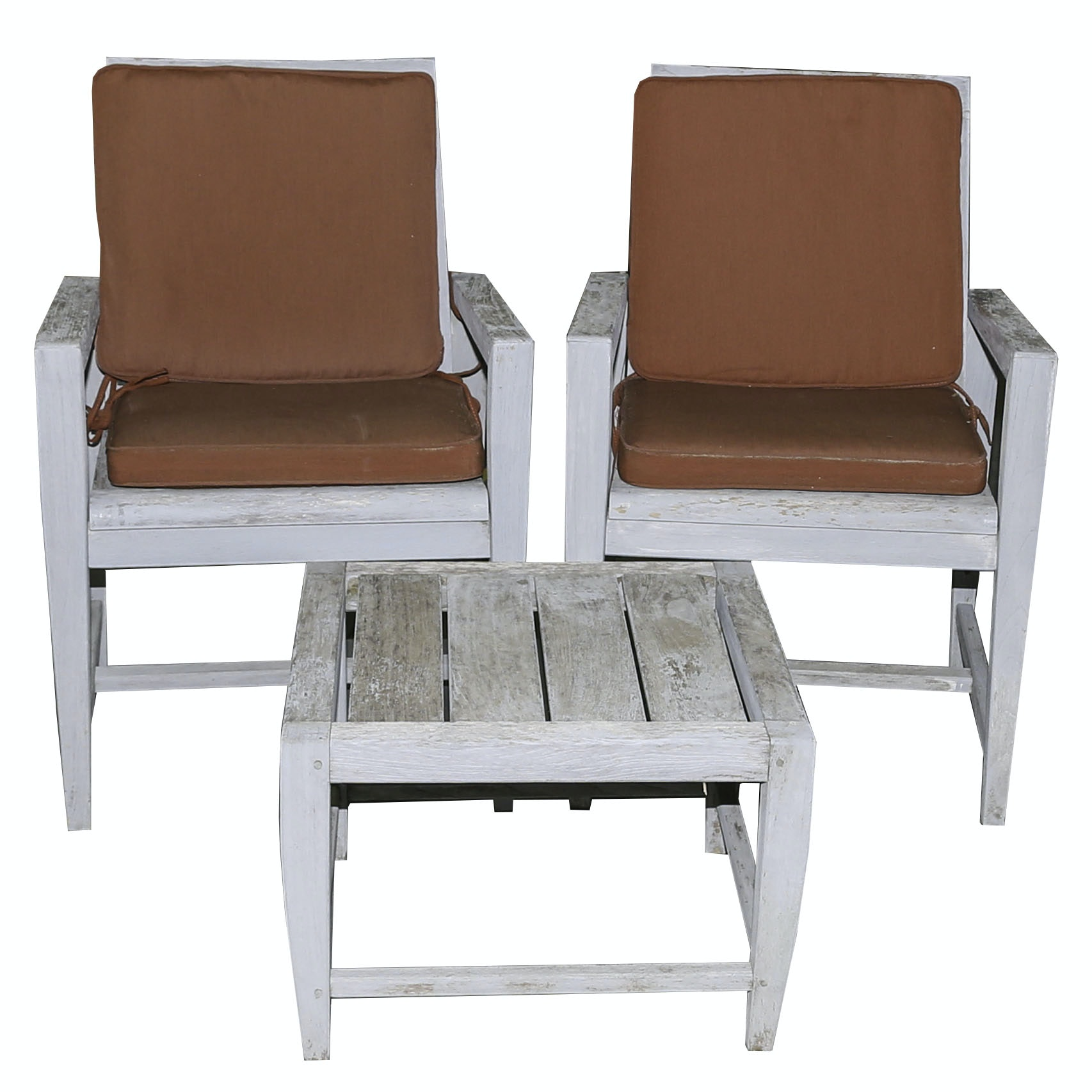 Kingsley-Bate Teak Patio Chairs and Table