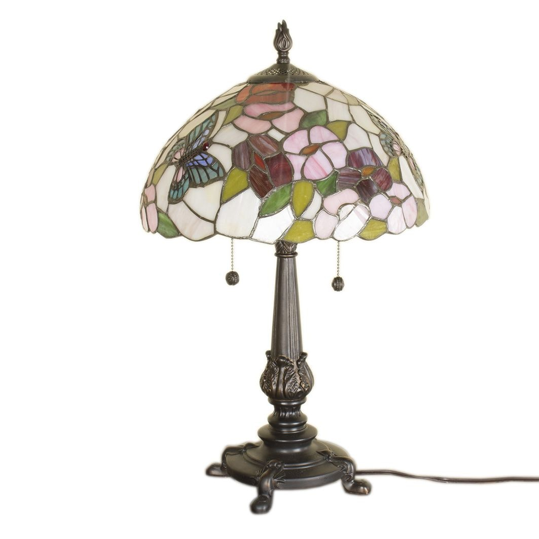 Tiffany Style Slag Glass Accent Lamp