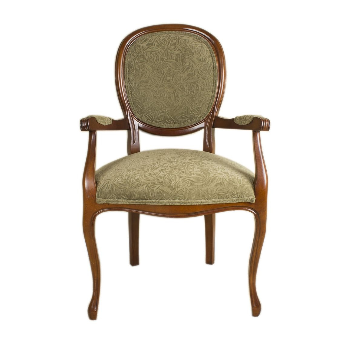 French Provincial Style Oval Back Fauteuil