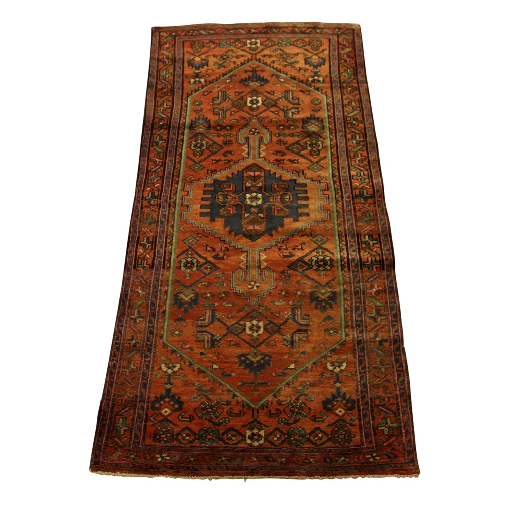 3' x 7' Hand-Knotted Persian Long Rug