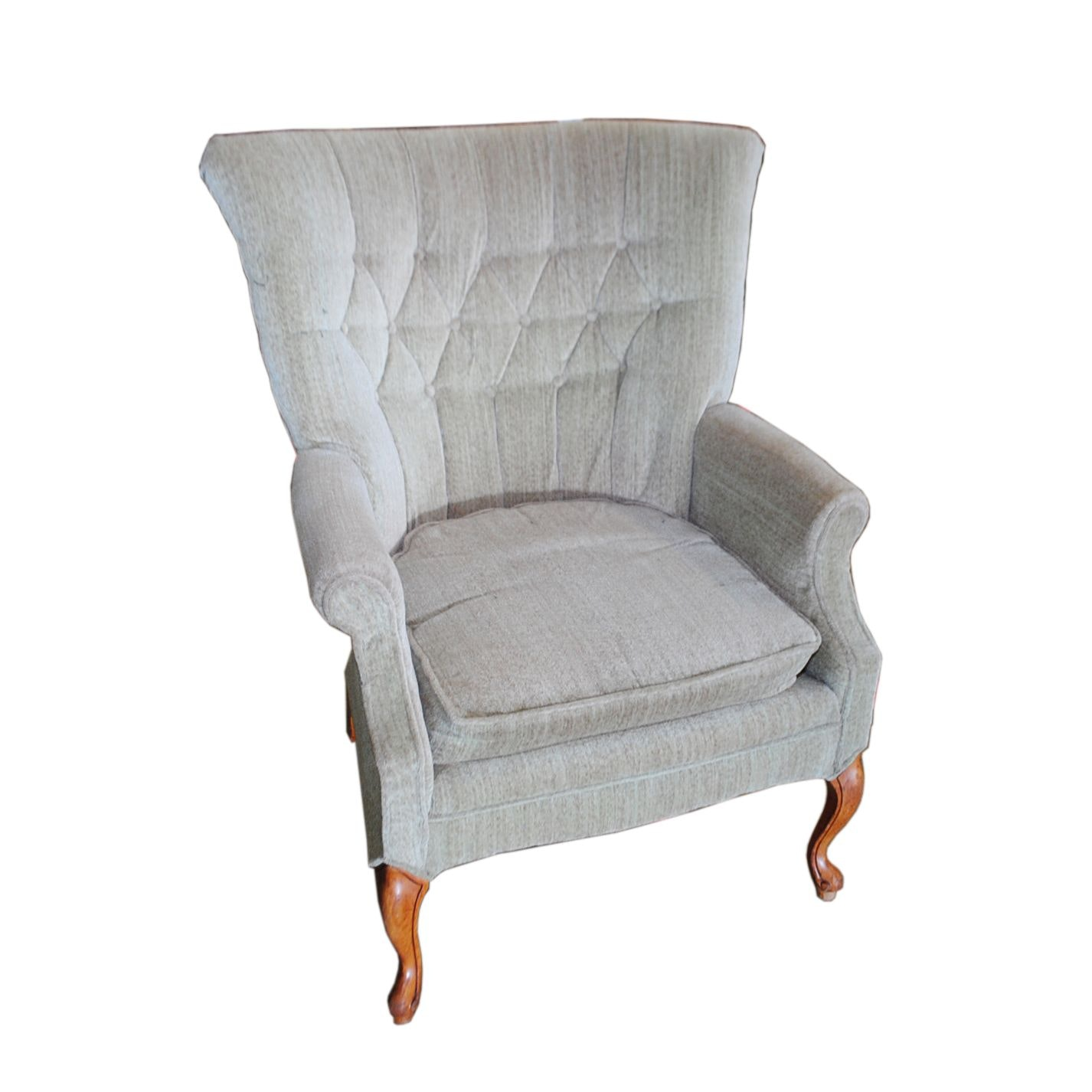 Button Tufted Wingback Armchair