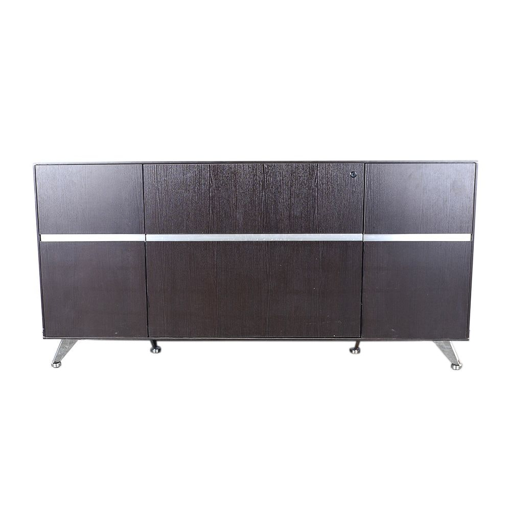 Contemporary Wood and Metal Credenza by Jesper