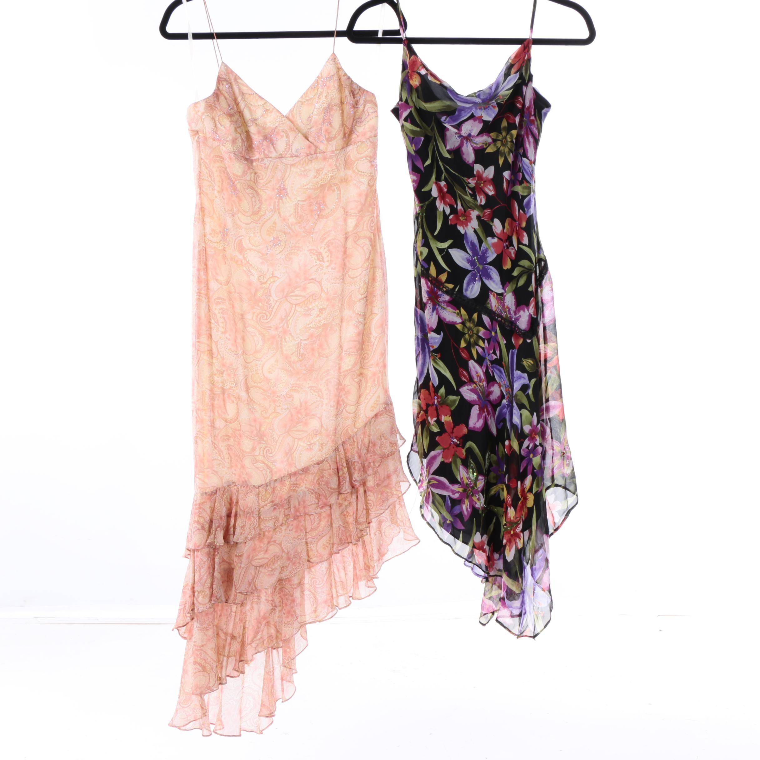 Women's Rimini and Robbie Bee Printed Silk Dresses
