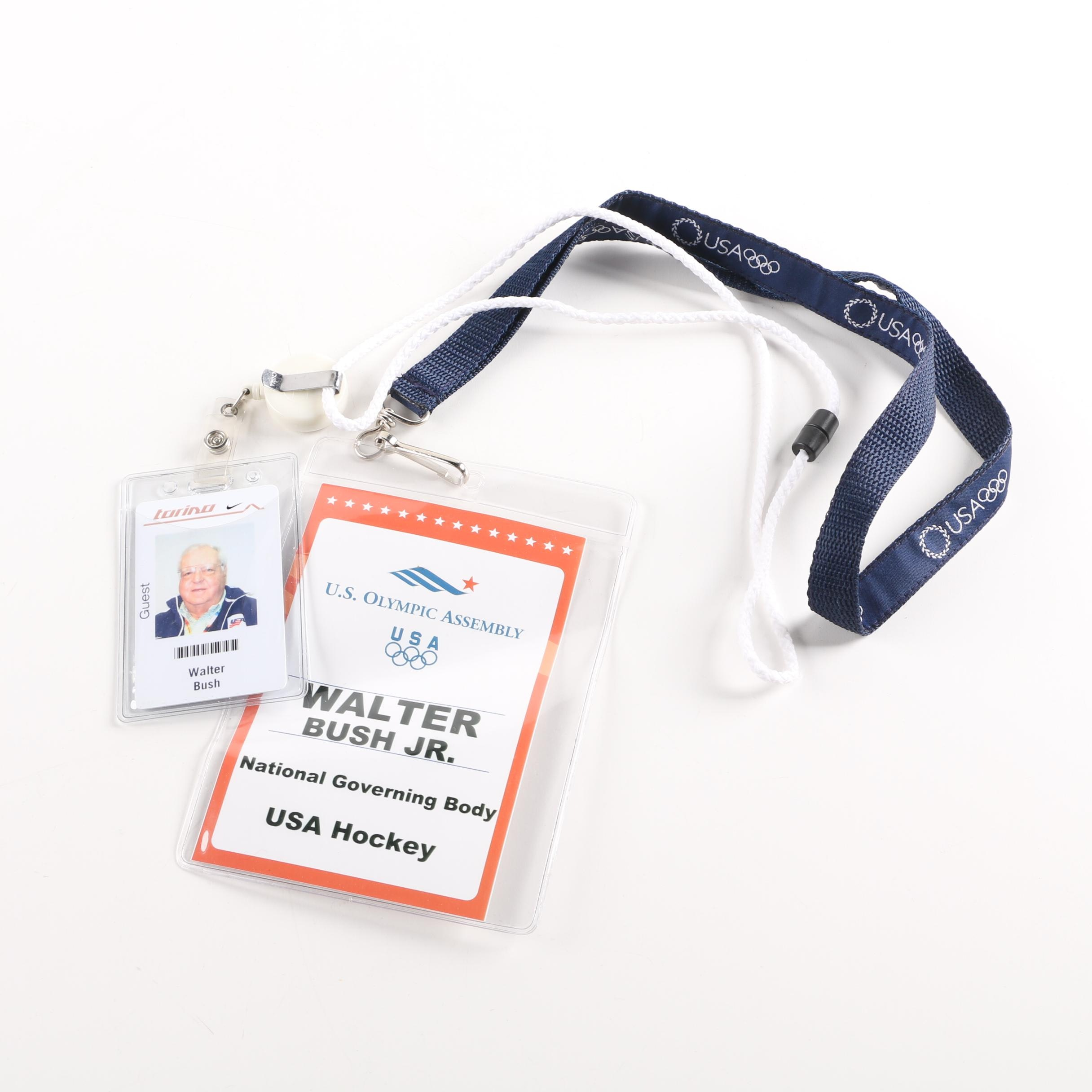 Olympic Security Passes For Walter Bush Jr.