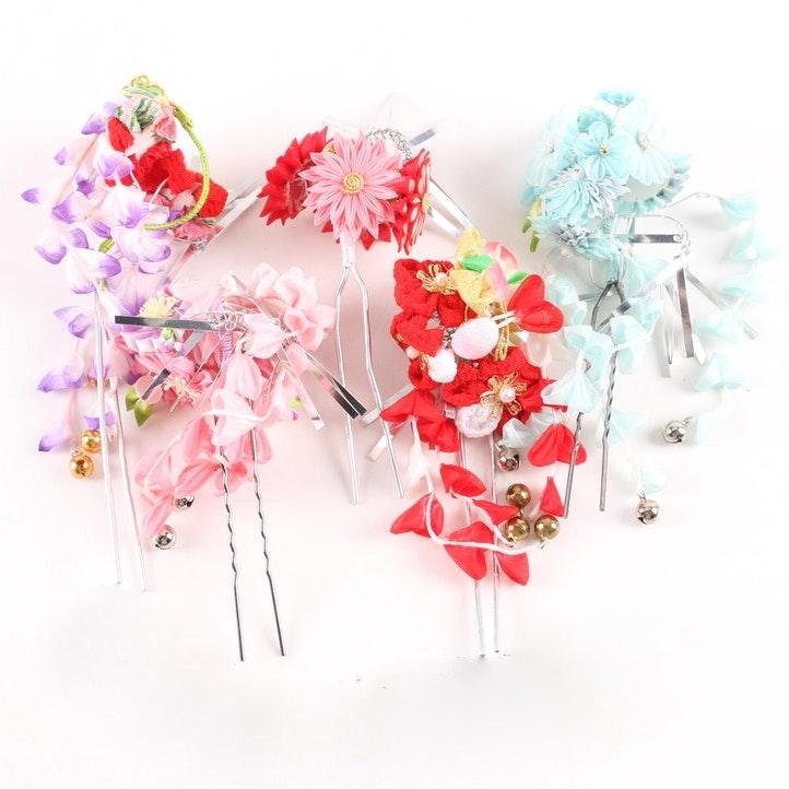 Japanese Style Handmade Floral Hair Ornaments