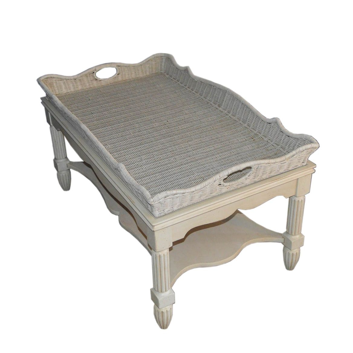 Wicker Tray Coffee Table