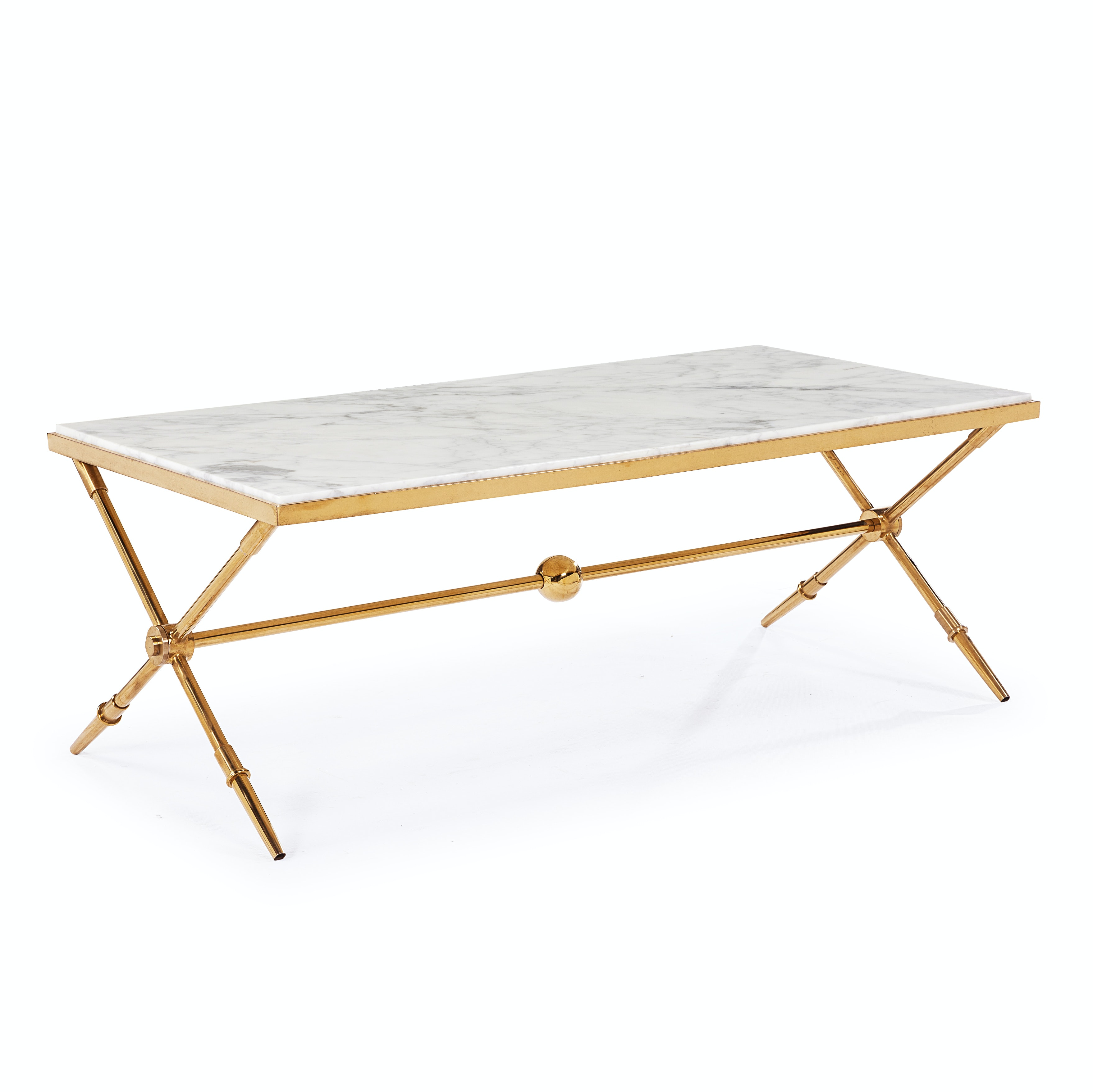 """Blink Home """"Hudson"""" Marble Top Cocktail Table"""