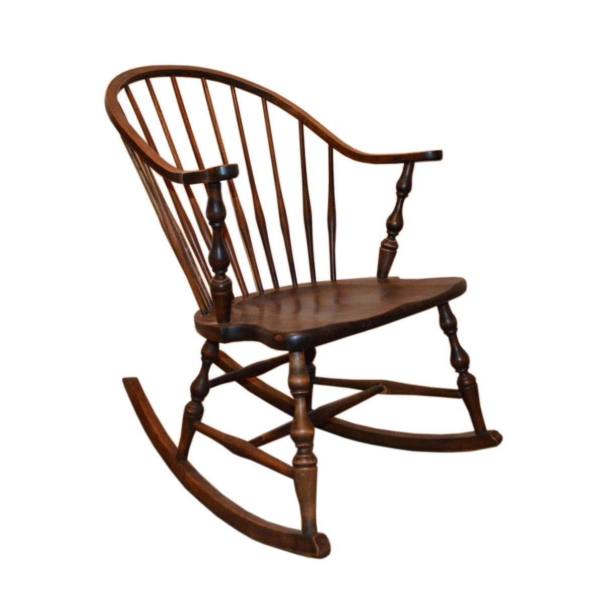 Vintage Spindle Back Rocking Chair