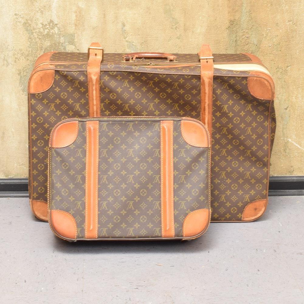 Vintage Louis Vuitton Monogram Canvas Suitcases