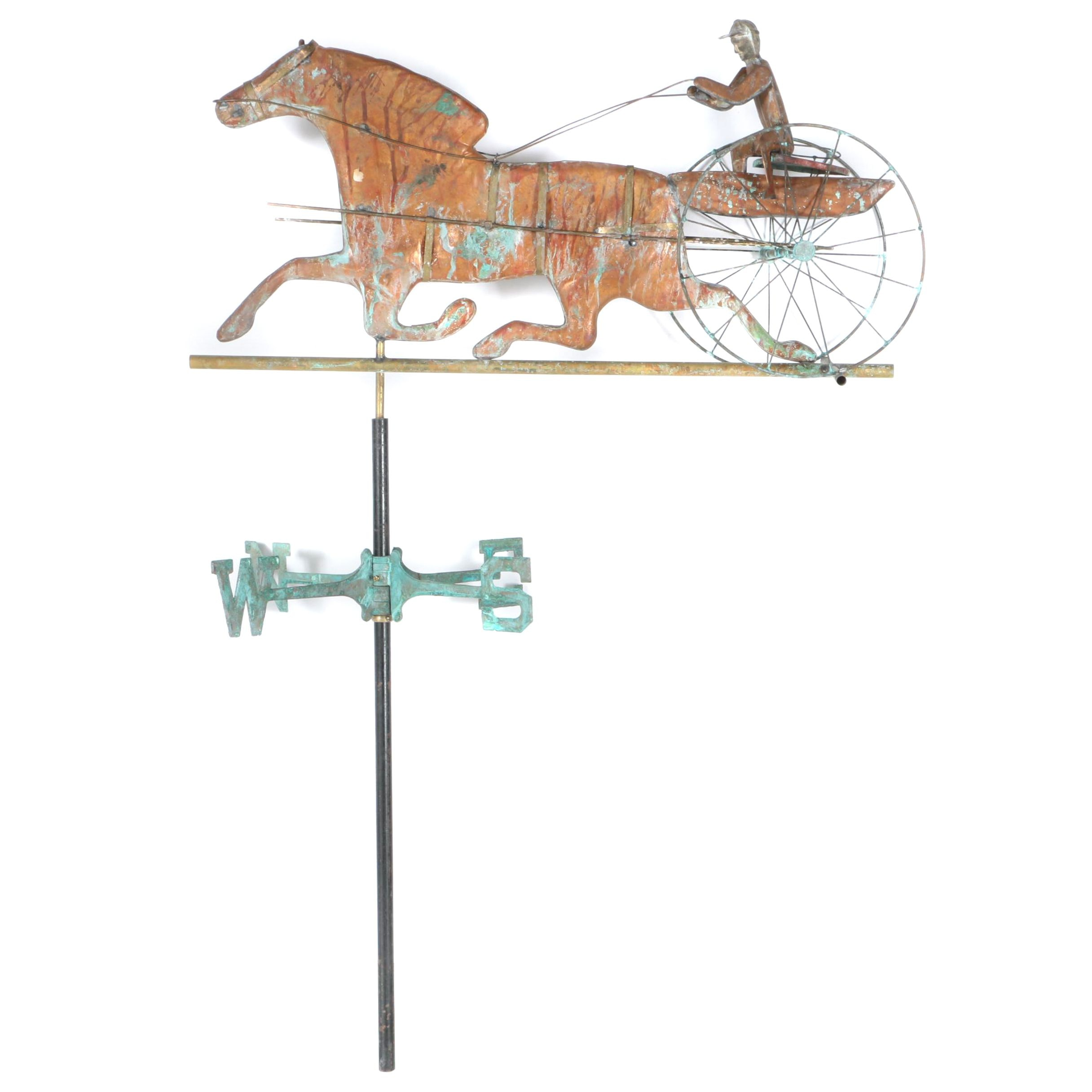 Vintage Horse and Sulky Weathervane